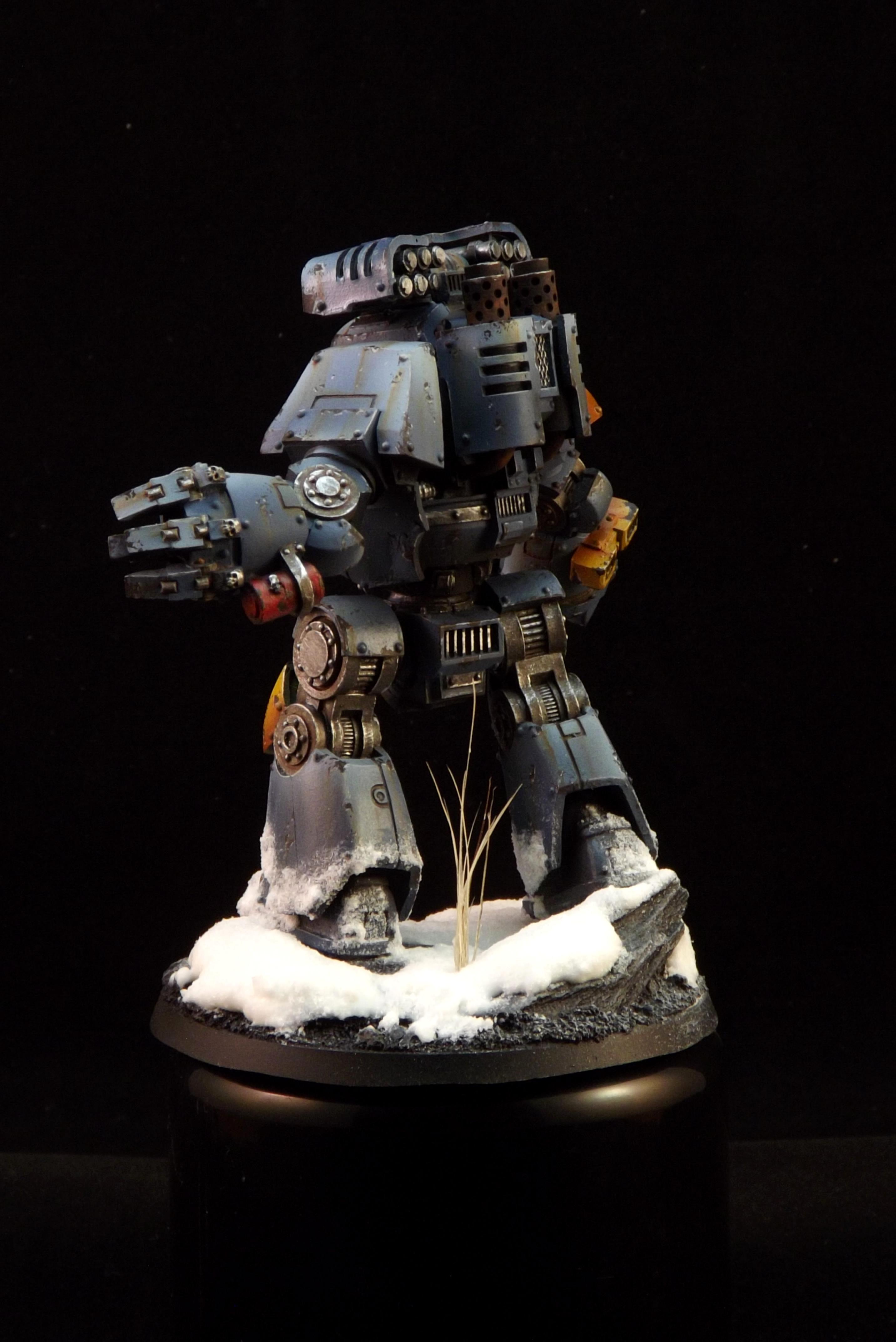Contemptor, Grey, Snow, Space, Warhammer 40,000, Warhammer Fantasy, Wolves, Yellow