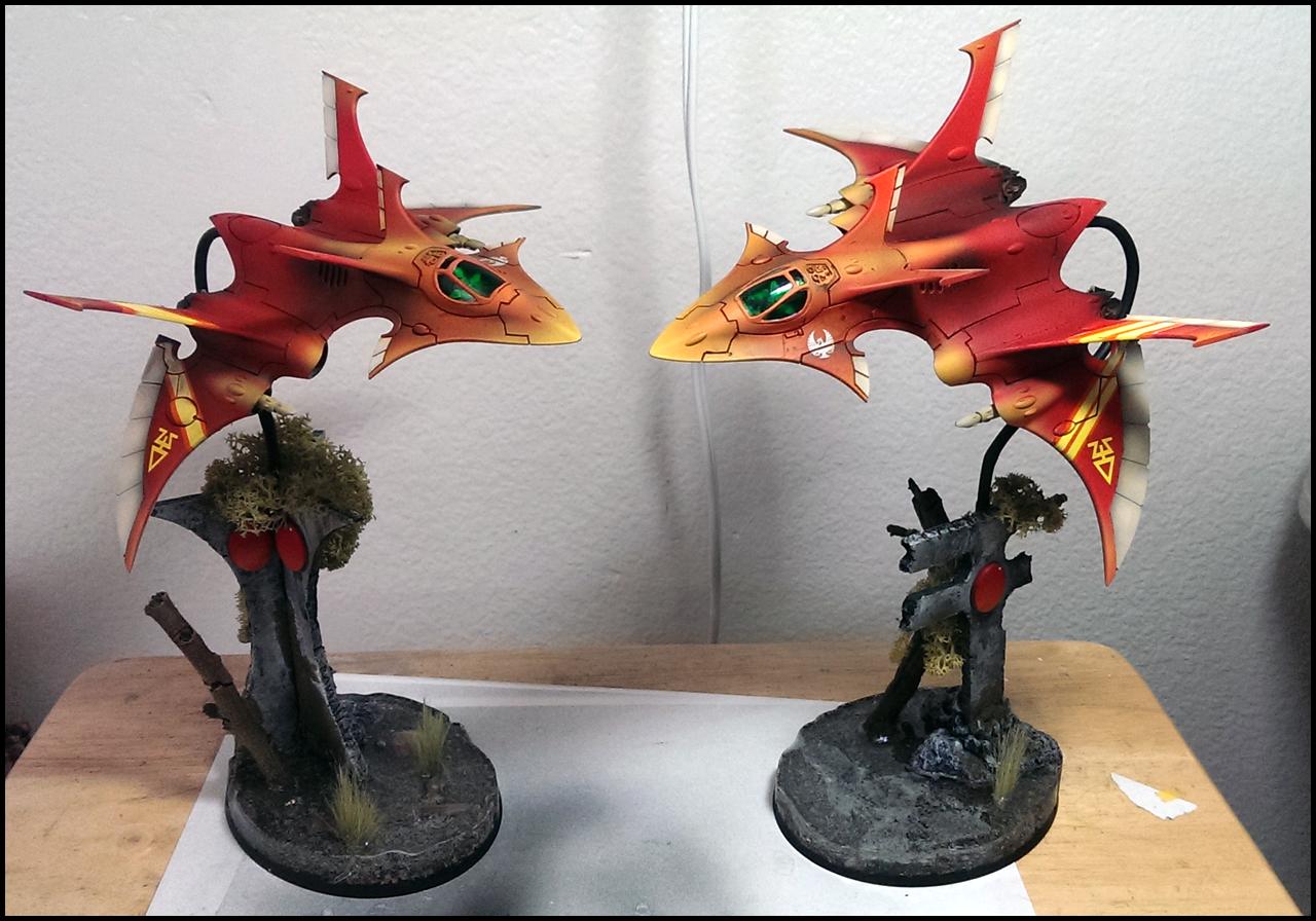 Aircraft, Crimson Hunter, Eldar, Fliers, Googly Eyes, Terrain
