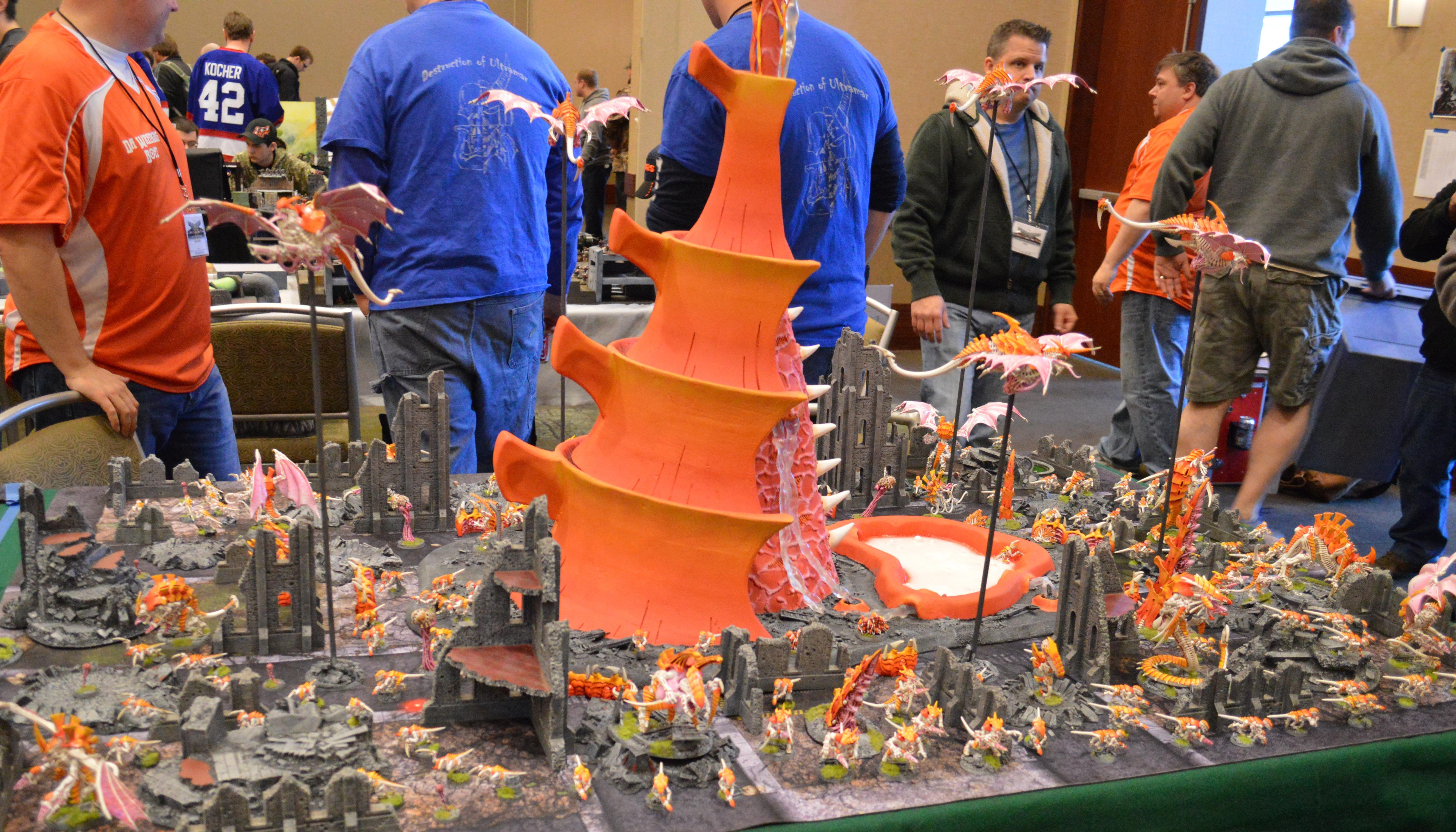 Adepticon 2014, Awesome Terrain, Display, Orange, Ruins, Tyranids, Warhammer 40,000
