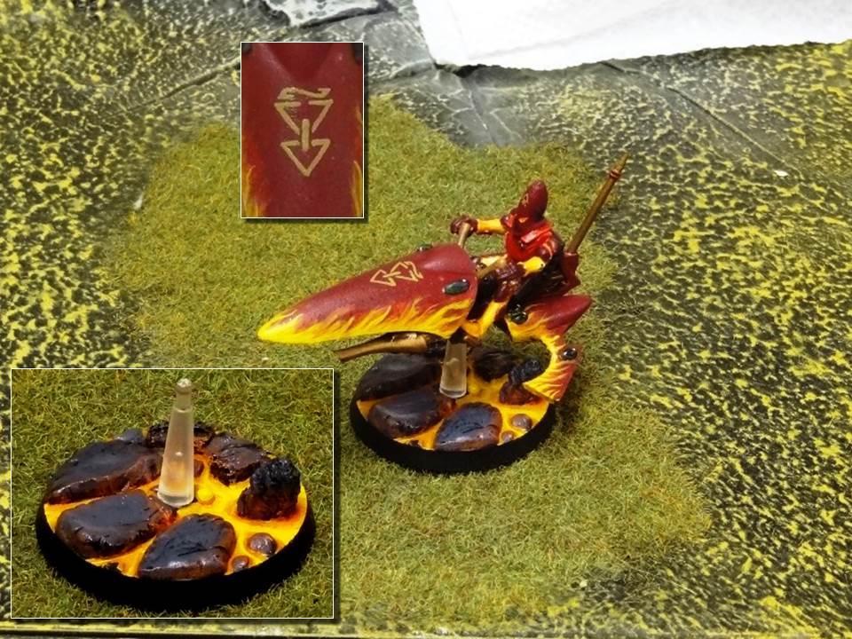 Altansar, Craftworld, Custom Base, Eldar, Fire, Flames, Jetbike, Lava, Magma, Object Source Lighting, Red, Warhammer 40,000, Warhammer Fantasy, Windrider