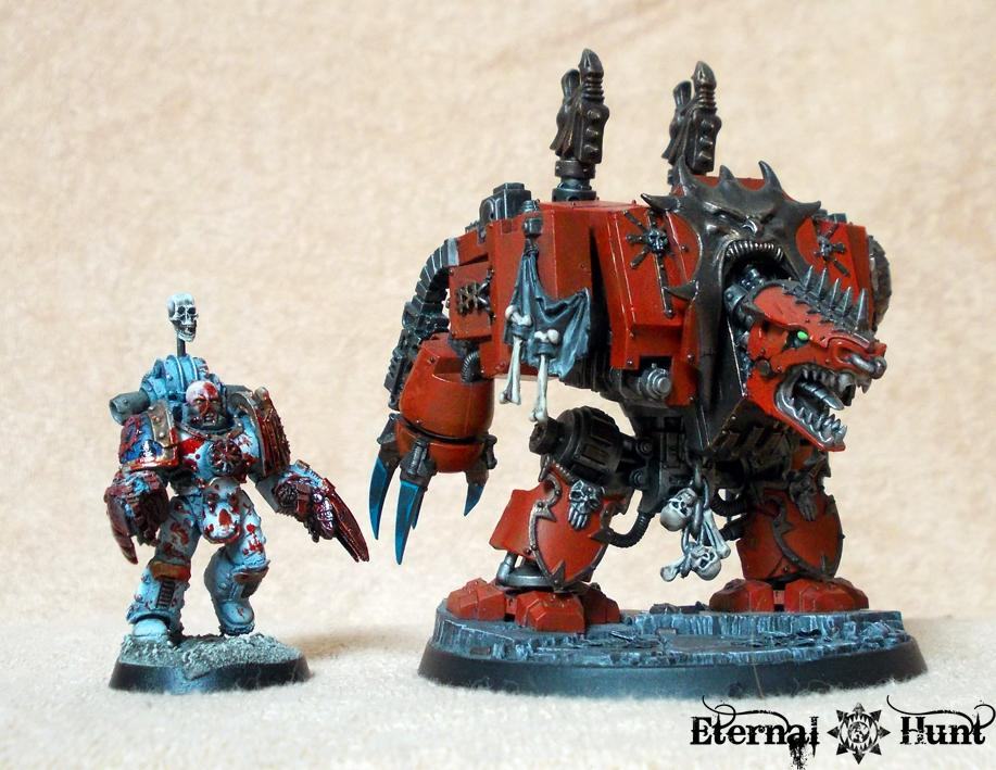 30k, Chaos, Chaos Space Marines, Dreadnought, Horus Heresy, Khorne's Eternal Hunt, Officers, Pre-heresy, Space Marines, Warhammer 40,000, World Eaters, Xii Legion