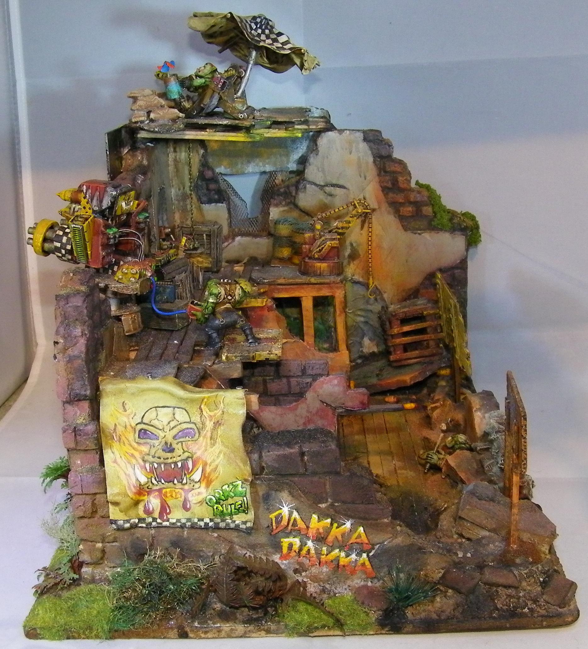 Diorama, Humor, Orks, Terrain
