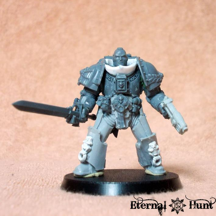 Adeptus Astartes, Conversion, Inq28, Inquisimunda, Inquisitor, Inquisitor 28, Kitbash, Sergeant, Space Marines, True Scale, True-scale, Warhammer 40,000, Work In Progress