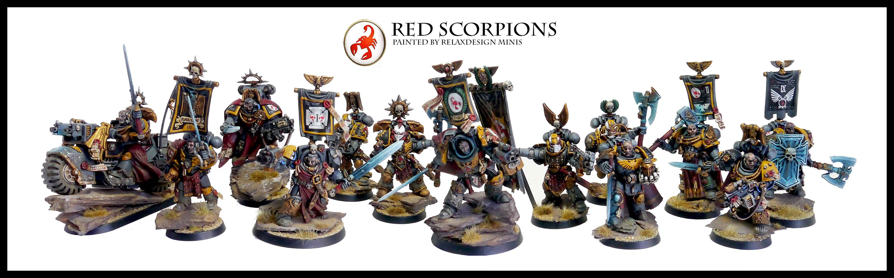 Captain, Command Squad, Commander, Forge World, Games Workshop, Headquarters, Honour Guard, Red Scorpions, Space Marines, Warhammer 40,000, Warhammer Fantasy