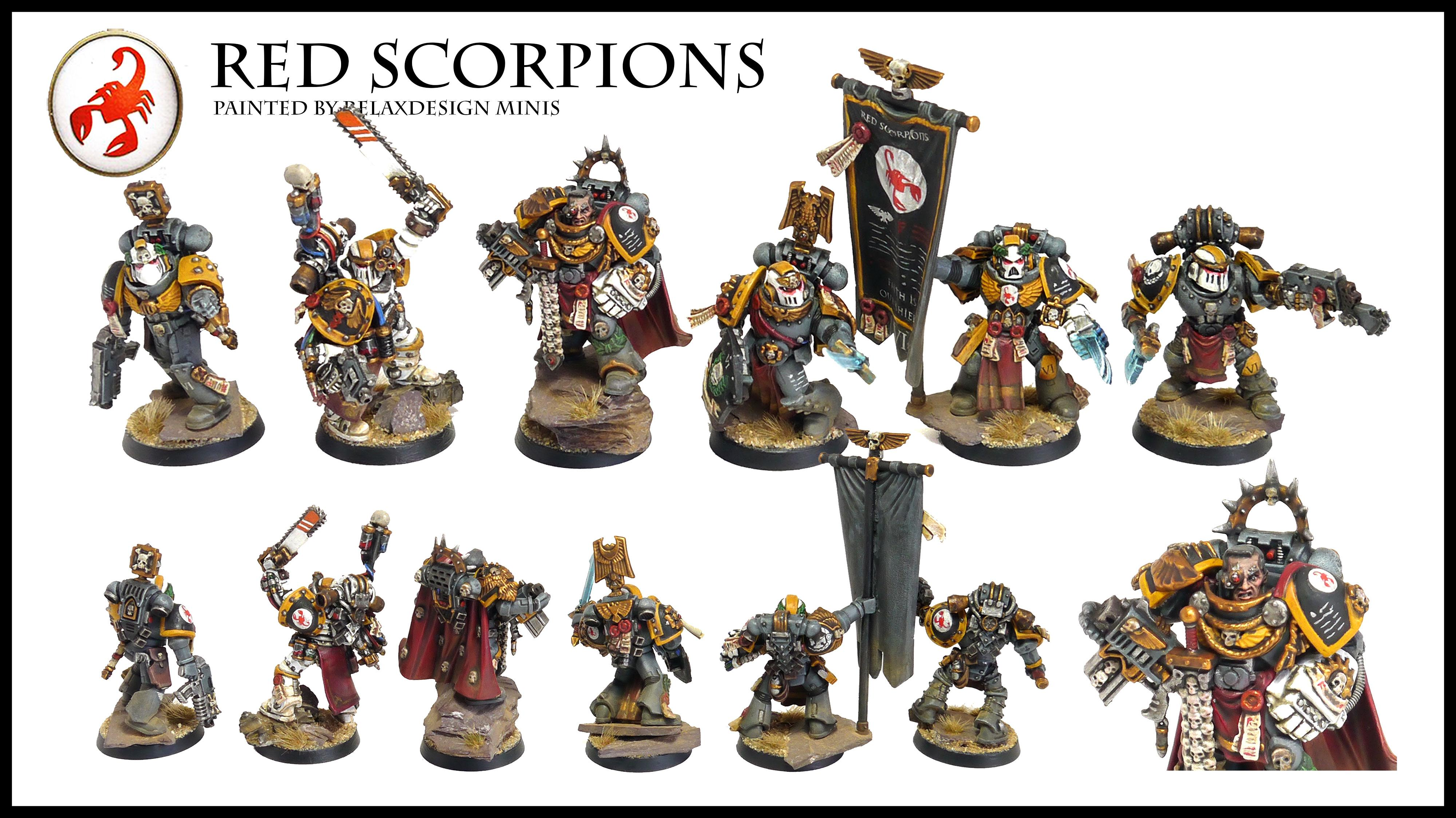 #1, Apothecary, Captain, Command Squad, Commander, Forge World, Games Workshop, Limited Edition, Red Scorpions, Space Marines, Standard Bearer, Warhammer 40,000, Warhammer Fantasy