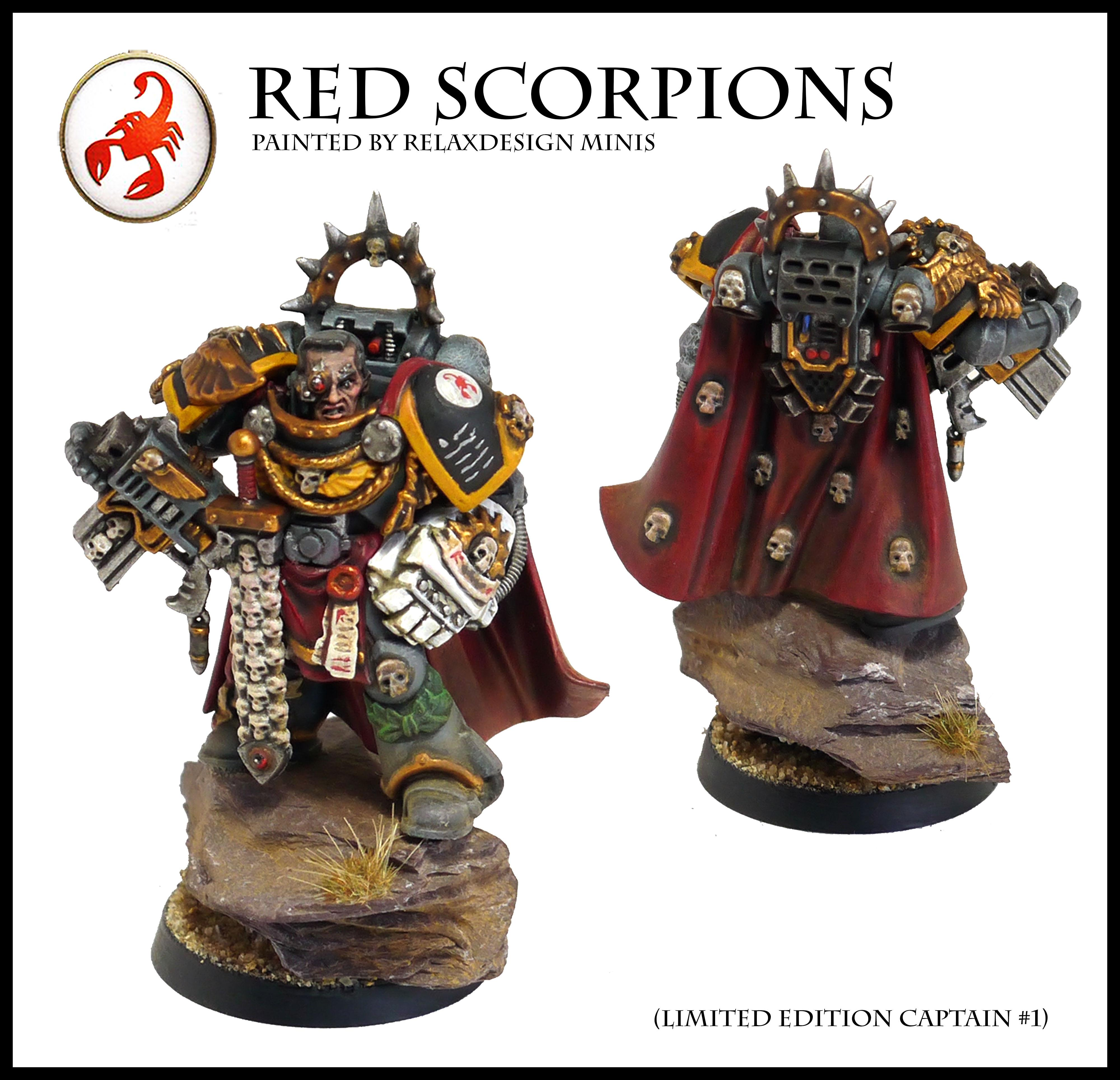 #1, Captain, Commander, Forge World, Games Workshop, Limited Edition, Red Scorpions, Space Marines, Warhammer 40,000, Warhammer Fantasy