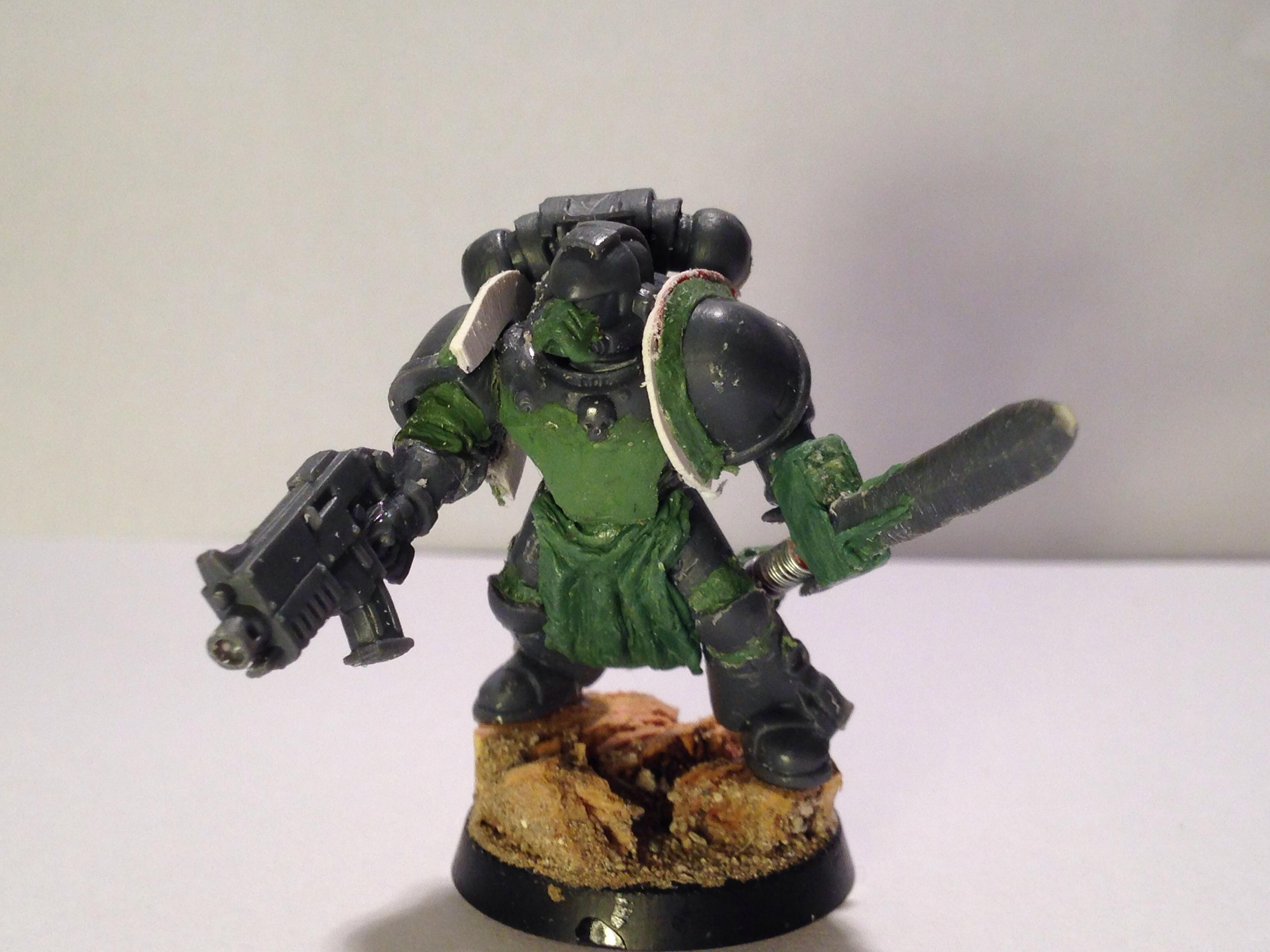 30k, Conversion, Greenstuff, Horus Heresy, Raven Guard, Space Marines, Work In Progress
