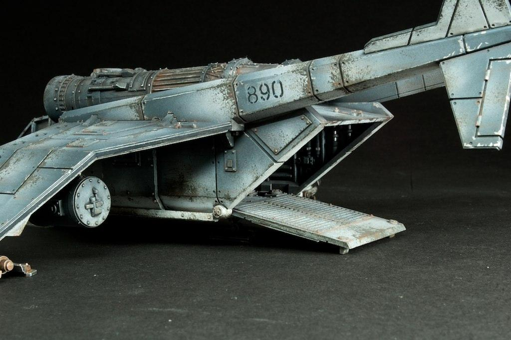 Astra Militarum, Dropship, Hatch, Imperial Guard, Interior, Ramp, Rust, Valkyrie, Weathered