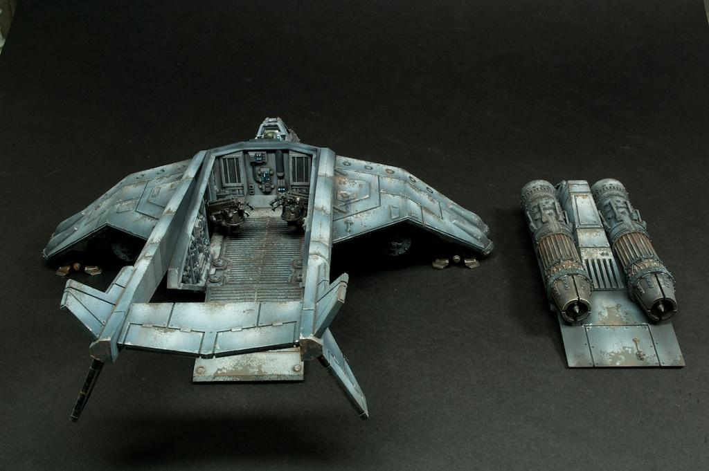 Astra Militarum, Crew, Dropship, Hull, Imperial Guard, Interior, Roof, Rust, Valkyrie, Weathered