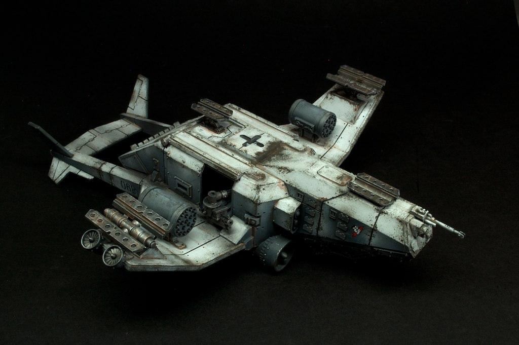 Astra Militarum, Dropship, Imperial Guard, Rust, Valkyrie, Weathered