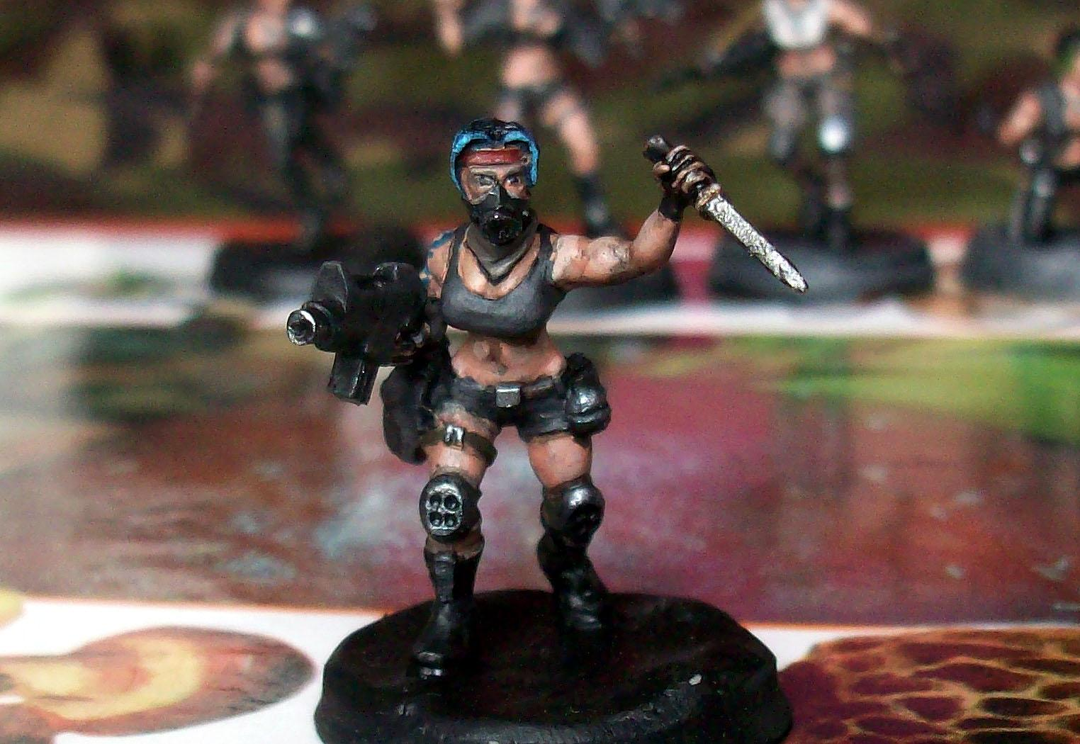 Astra Militarum, Brother, Cities Of Death, Female, Girl, Girls, Guardsmen, Imperial Guard, Miniatures, Rats, Tunnel, Tunnel War, Vinni, Woman