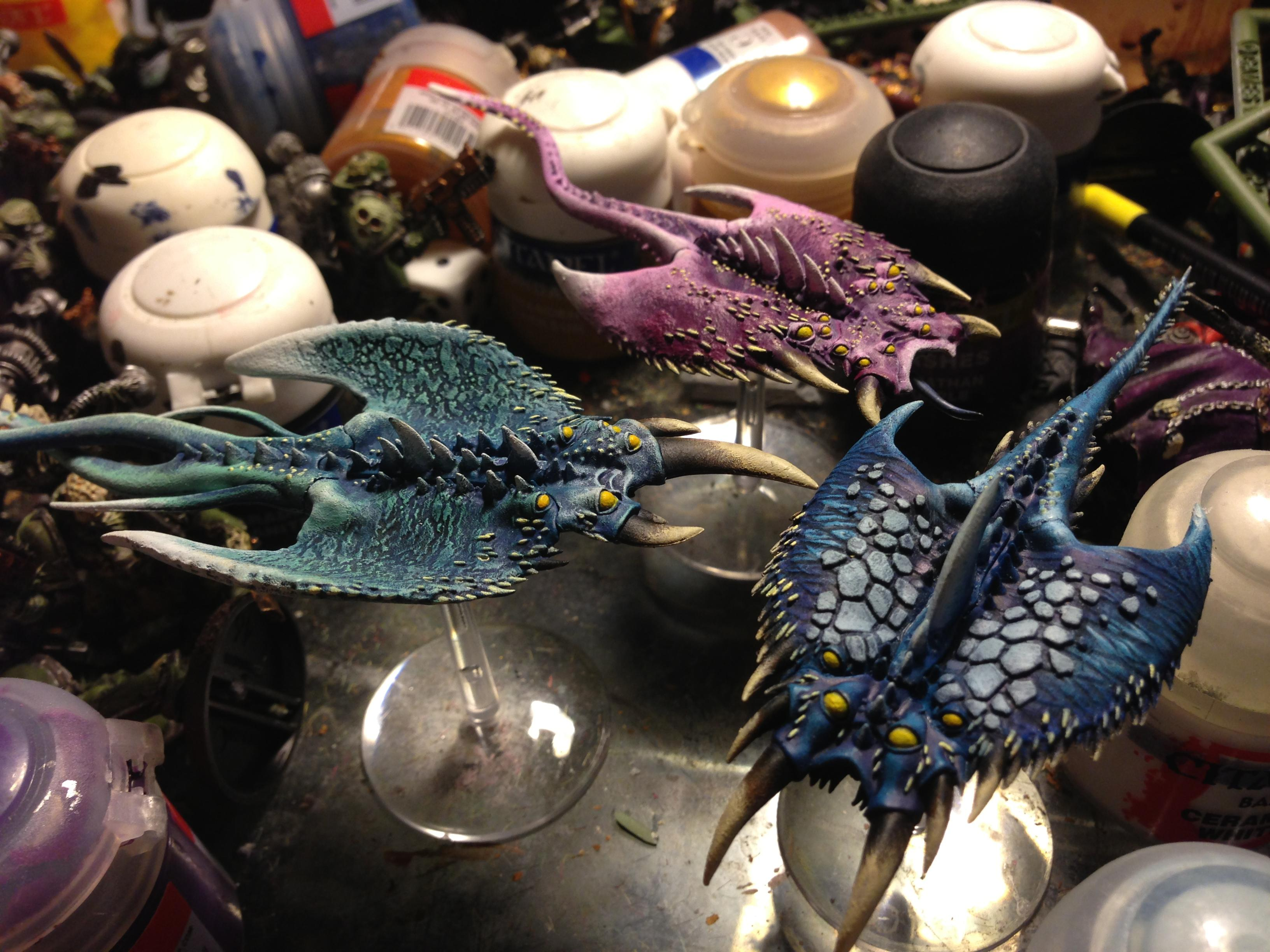 Chaos, Daemons, Screamers, Tzeentch, Warhammer 40,000
