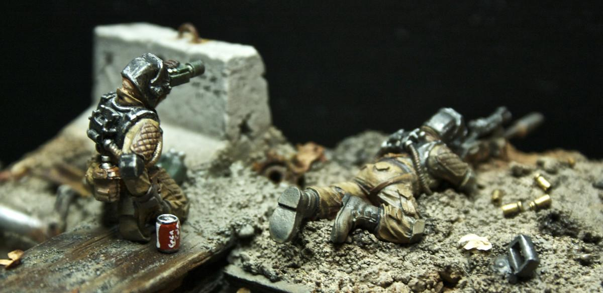 Diorama, Elysian, I Am Two Bullets, Imperial Guard, Rusty Robot