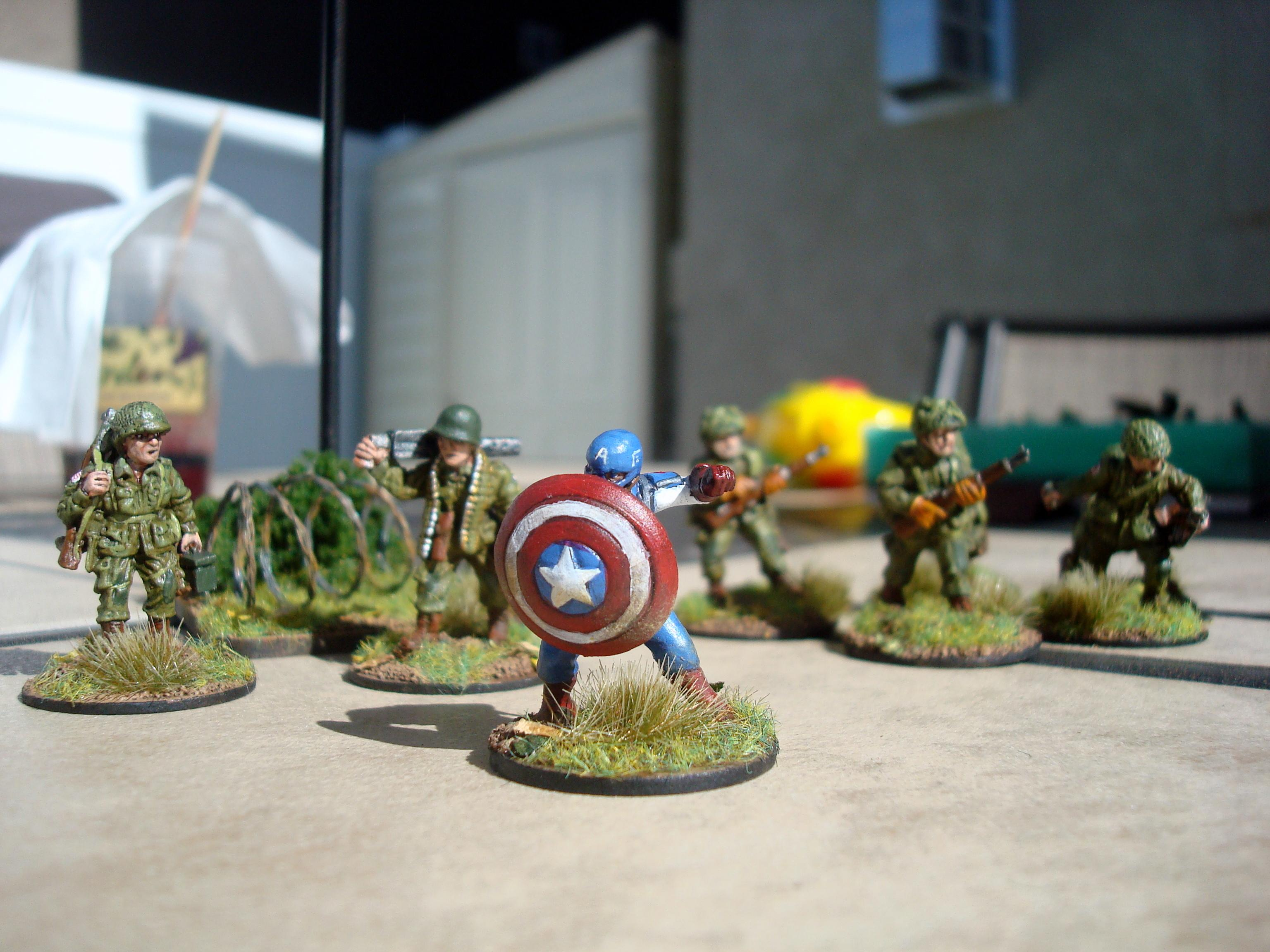 Airborne, America, Bolt Action, Captain America, Marvel, Paratrooper, Superhero, World War 2