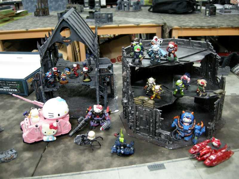 Chaos, Cute, Hello Kitty, Humor, Space Marines