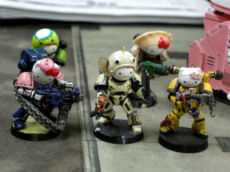 Chaos, Hello Kitty, Space Marines