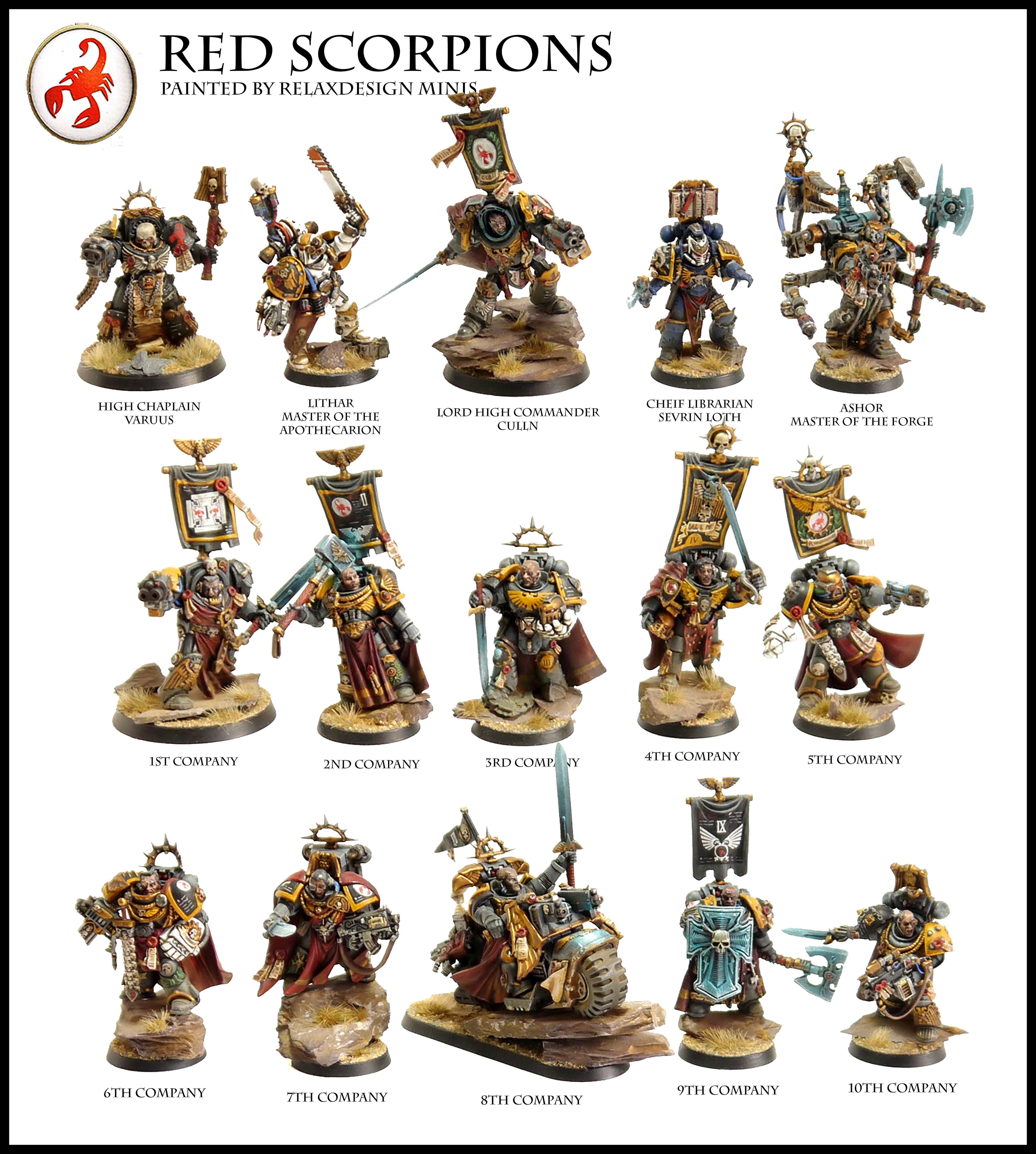 Apothecary, Bike, Captain, Chaplain, Commander, Culln, Forge World, Games Workshop, Jump Pack, Librarian, Limited Edition, Master Of The Forge, Red Scorpions, Sevrin Loth, Space Marines, Techmarine, Terminator Armor, Warhammer 40,000, Warhammer Fantasy