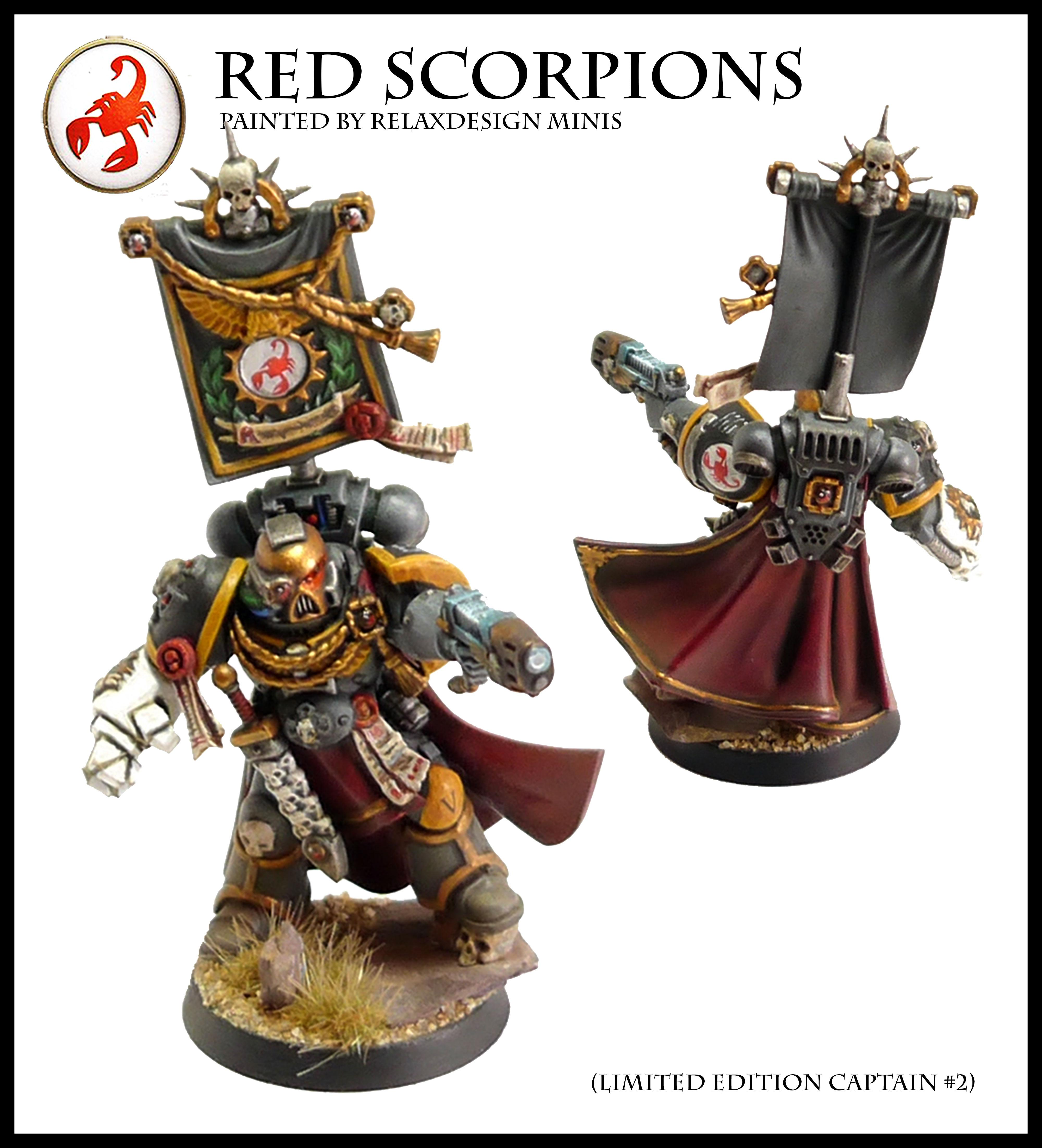 #2, Captain, Commander, Forge World, Games Workshop, Limited Edition, Red Scorpions, Space Marines, Warhammer 40,000, Warhammer Fantasy