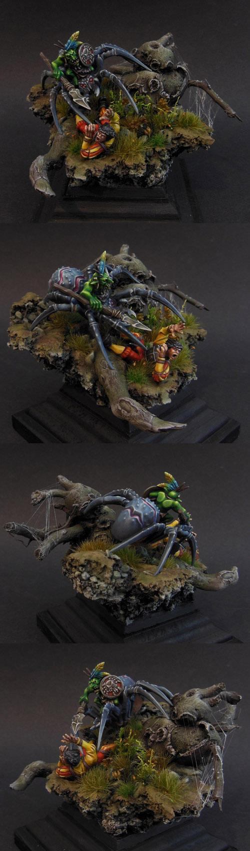 Diorama, Duel, Goblins, Spider