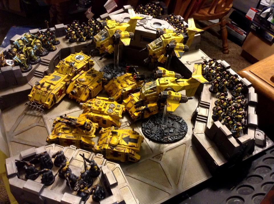 Imperial Fists, Painted Castellum Stronghold, Pre Heresy, Space Marines