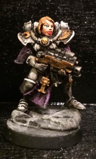 My Sisters of Battle in new colors. A whole squad in White ...