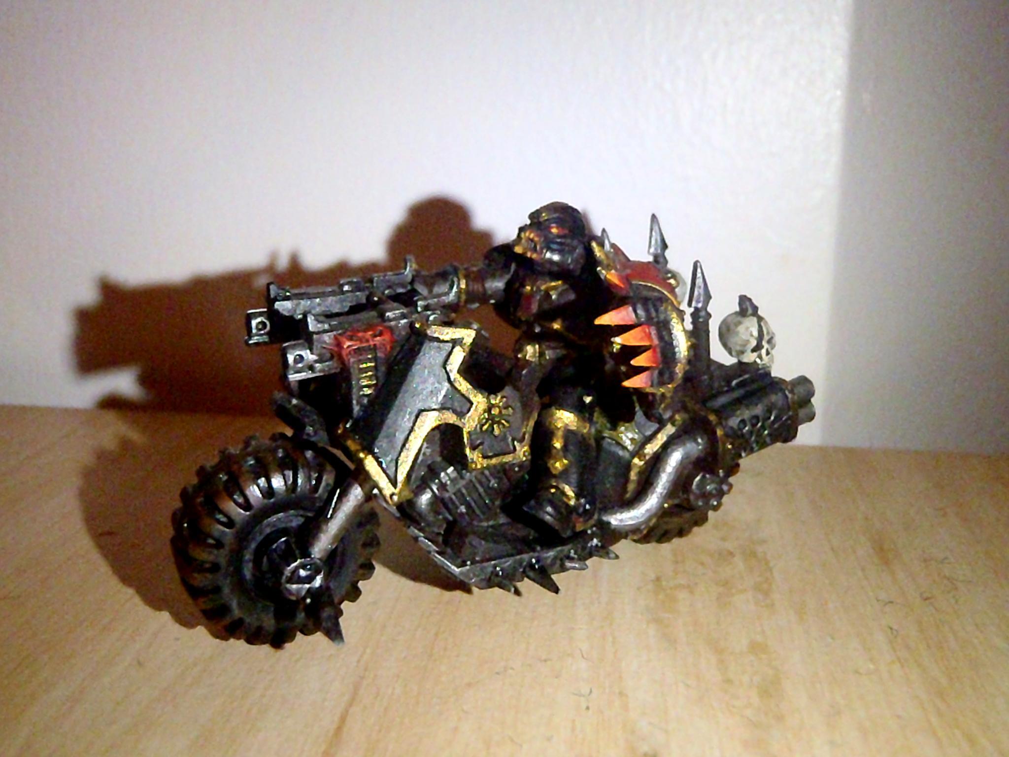 Bike, Black Legion, Chaos, Chaos Champ, Chaos Space Marines, Power Fist, Space Marines