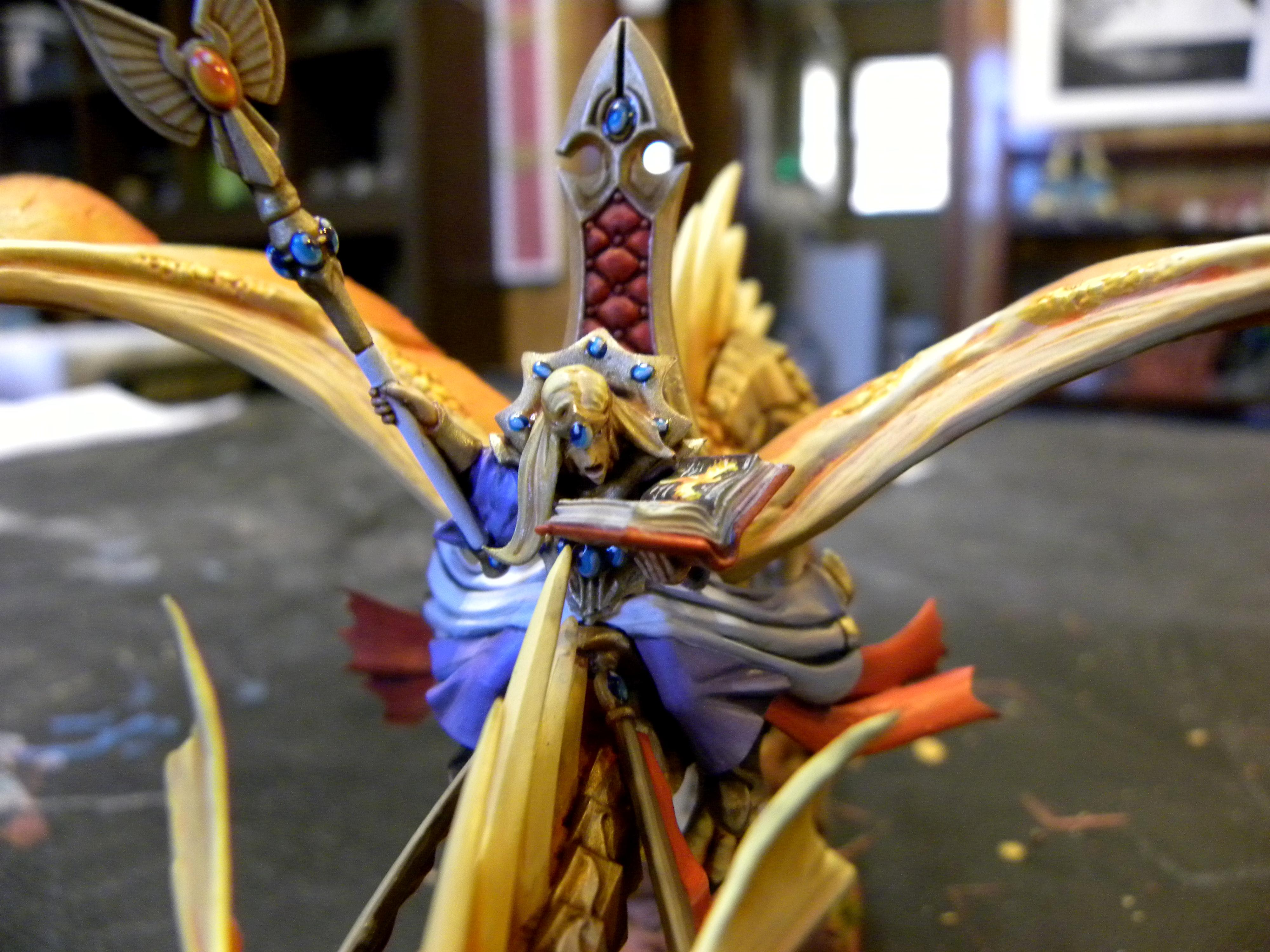 Dragon, Elves, Freehand, High Elves, Lord, Prince, Warhammer Fantasy, Wizard