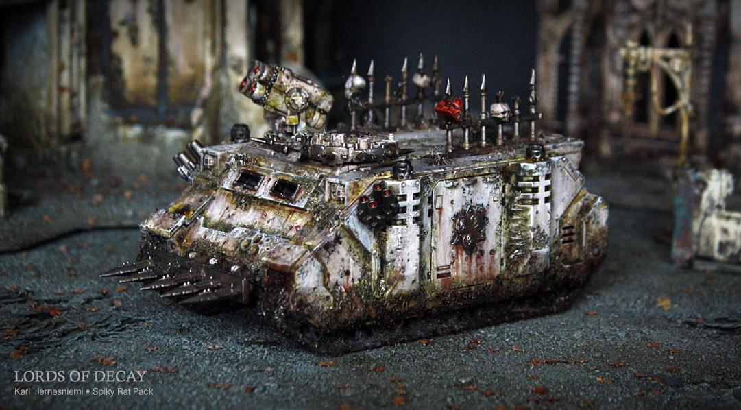 Chaos Space Marines, Lords Of Decay, Nurgle, Spiky Rat Pack, Warhammer 40,000