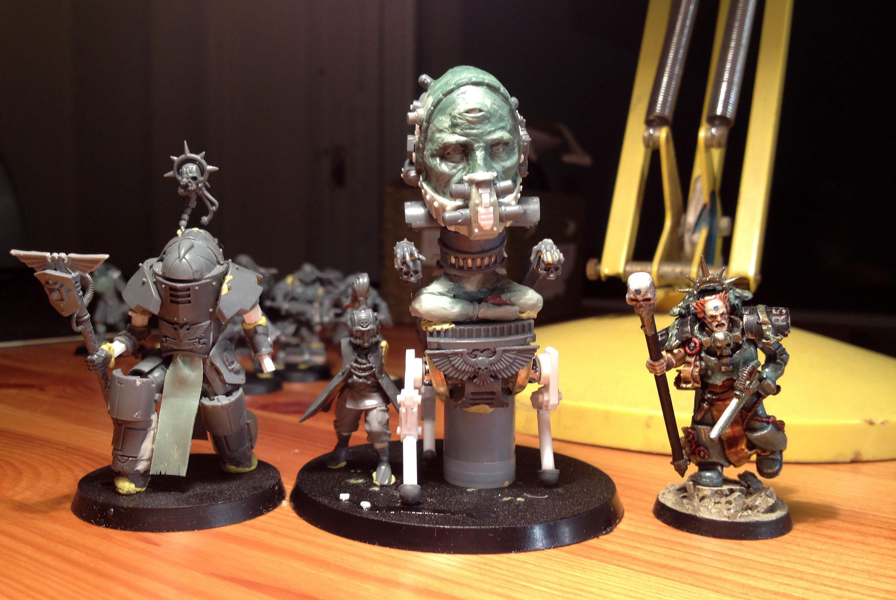 Greenstuff, Karamazov, Navigator, Robot, Scratch Build, Sculpting