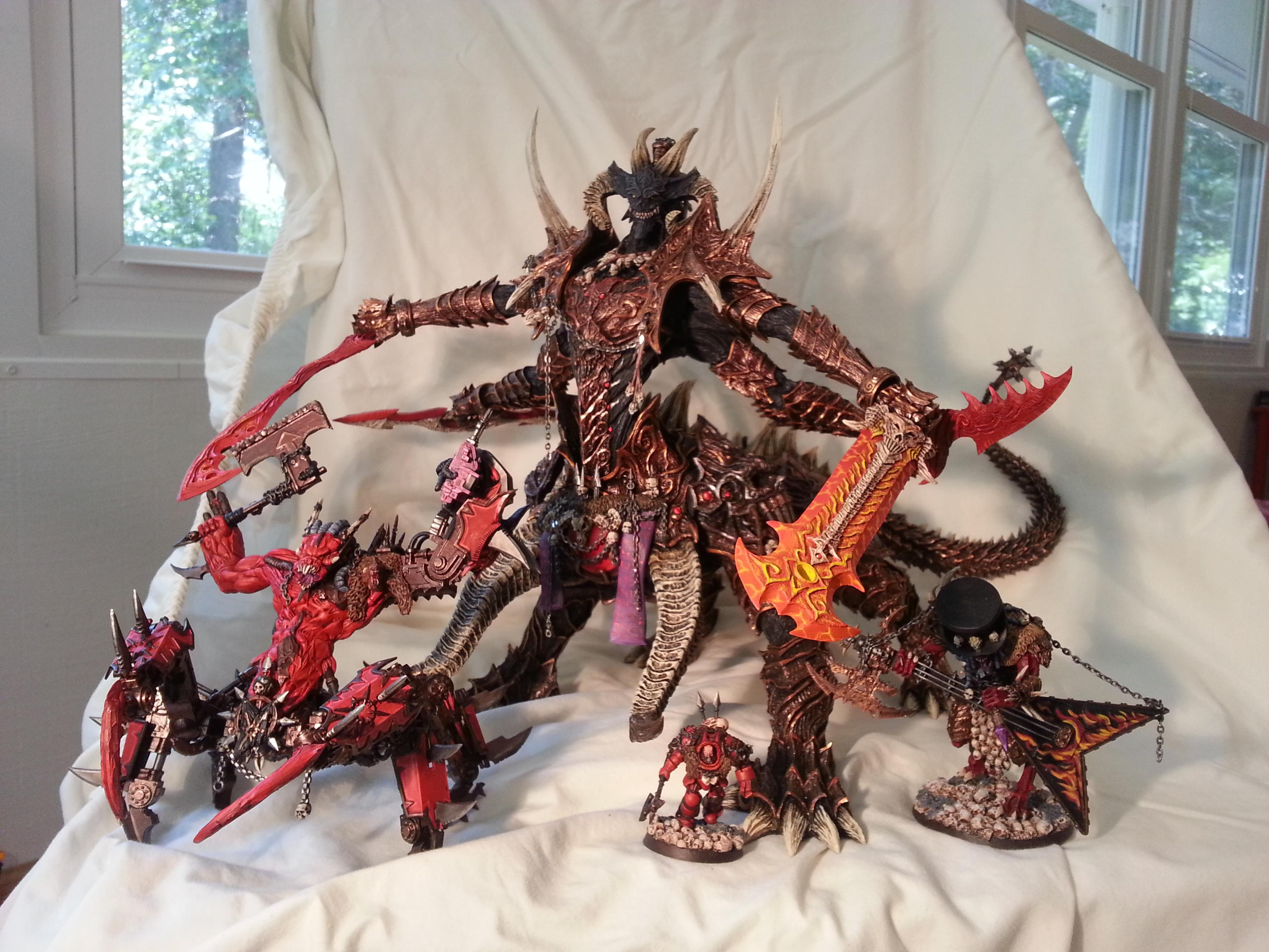 Archdaemon, Awesome, Comparison, Daemon Lord, Daemon Prince, Daemons, Homebrew, Khorne, Painted, Scratch Build, Soul Grinder, Warhammer 40,000, Warhammer Fantasy