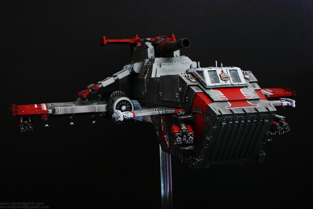 Forge World, Grey Knights, Jca, Magnet, Psycannons, Red, Silver, Thunderhawk Gunship, White