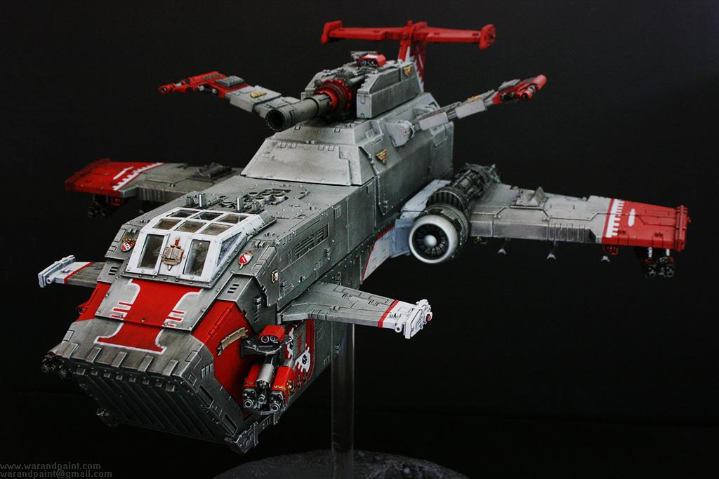 Forge World, Grey Knights, Jca, Magnet, Psycannons, Red, Silver, Thunderhawk Gunship, White