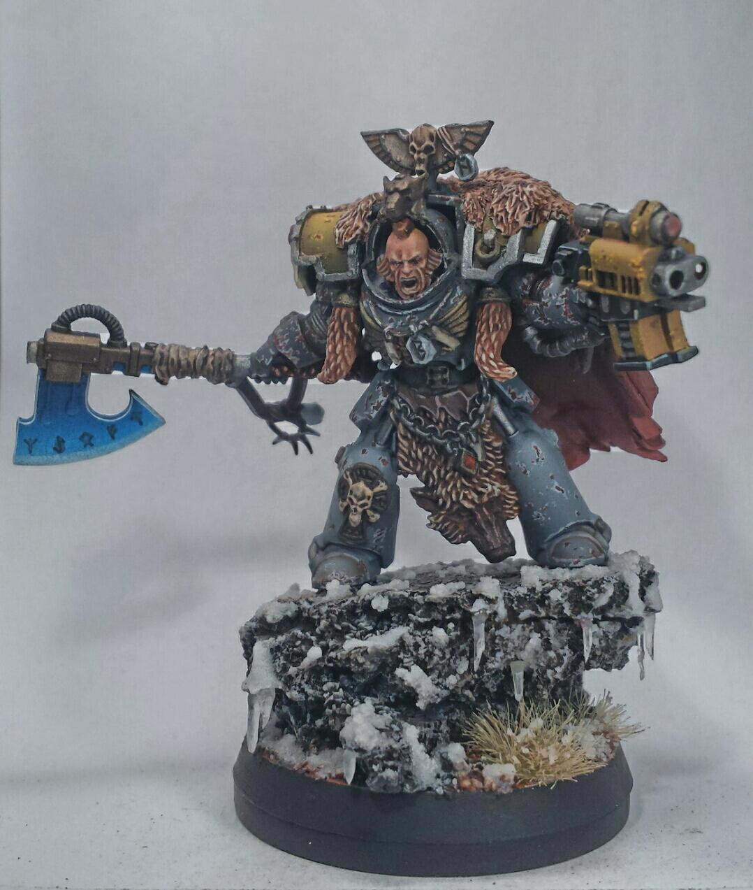 Frost, Great Wolf, Greenstuff, Heresy, Kitbash, Lord, Snow, Space Wolves, Terminator Armor