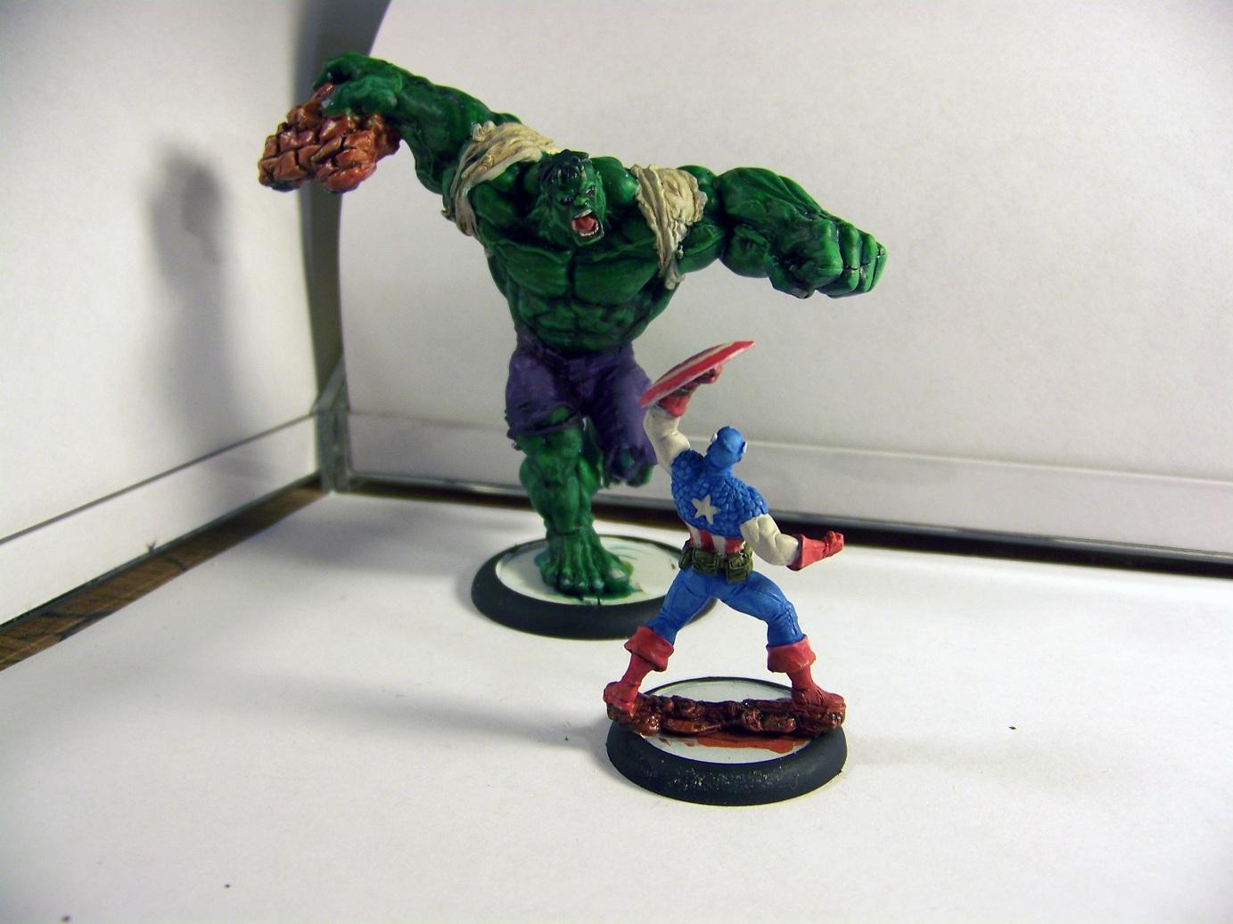Captain America, Hulk, Knight Models, Marvel