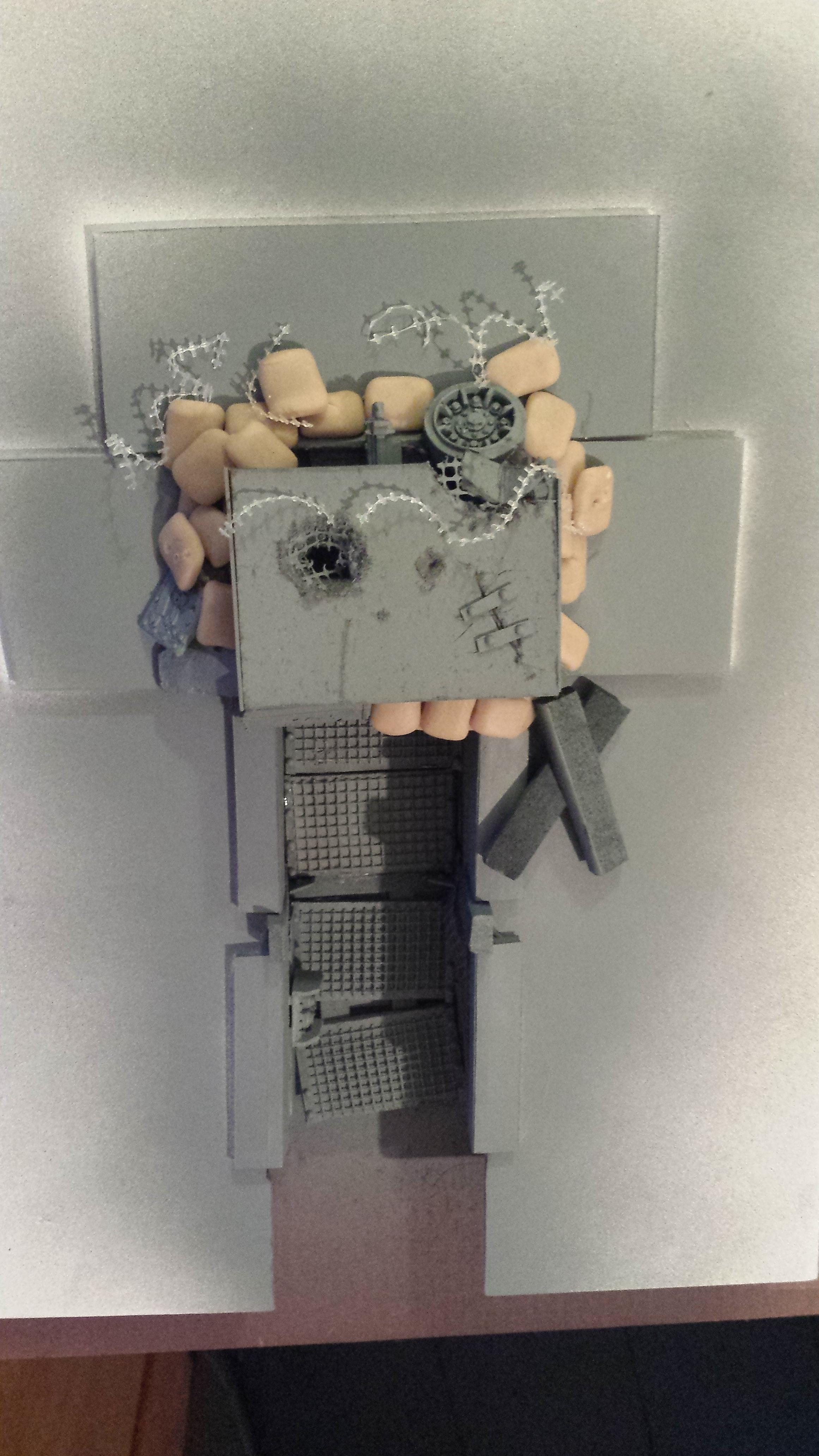 Damage, Fortified, Heavy Bolter, Imperial Guard, Mud, Terrain, Trench, Vraks