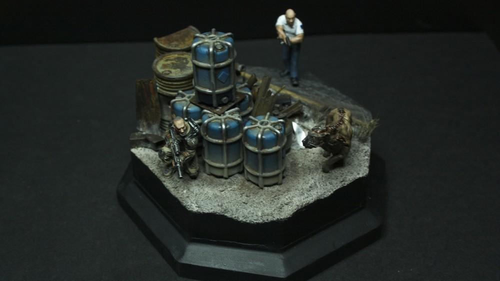 Diorama, Dirt, Dog, Grime, Imperial Guard, Mud, Rusty Robot, Weathered, Who Goes There