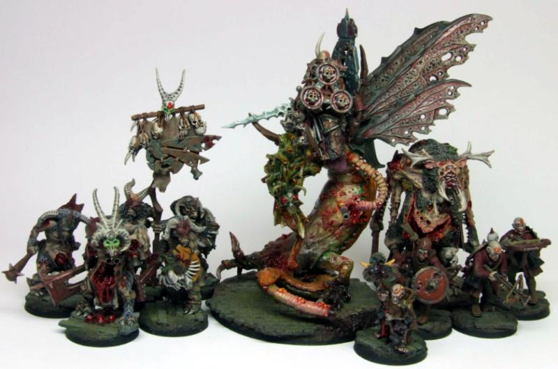 Beastmen, Champion, Chaos Warrior, Crossbowmem, Minotaur, Nurgle, Pestigors, Realm Of Chaos, Sorcerer, Warband, Warhammer Fantasy