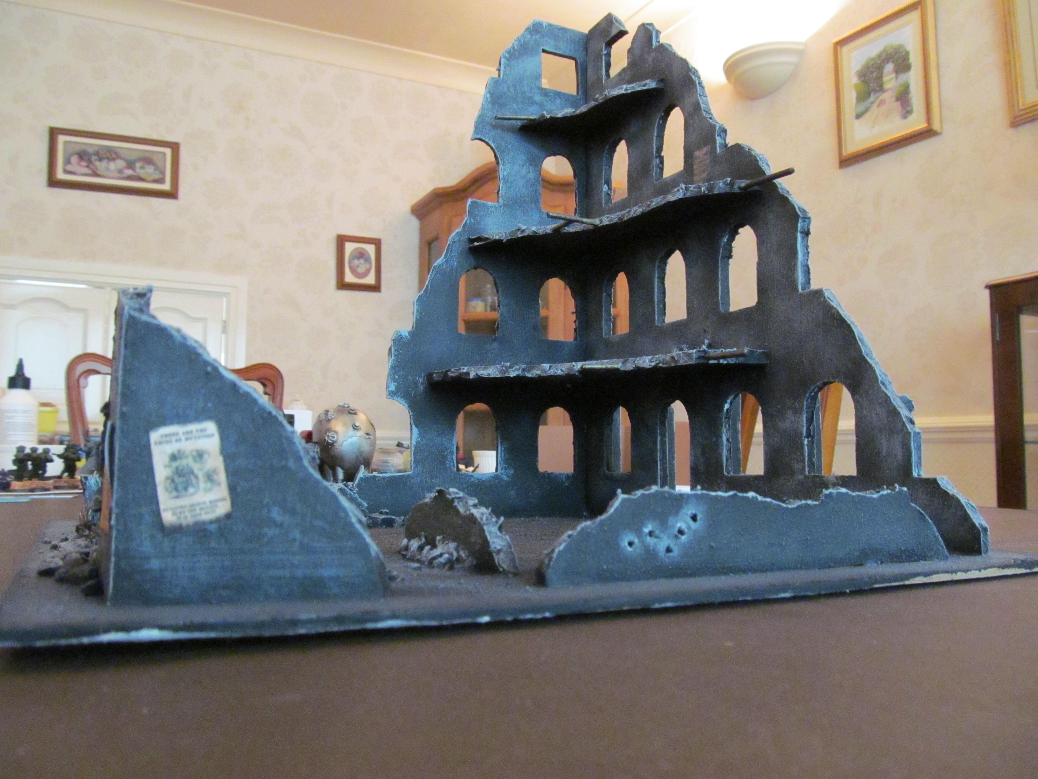 Buildings, Narrow, Ruin, Ruins, Short, Tall, Terrain, Wide, Window, Wire