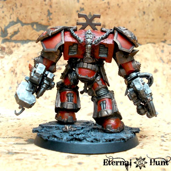 Behemoth, Chaos, Chaos Space Marines, Conversion, Khorne, Khorne's Eternal Hunt, Kitbash, Obliterators, Thamier, Warhammer 40,000, World Eaters