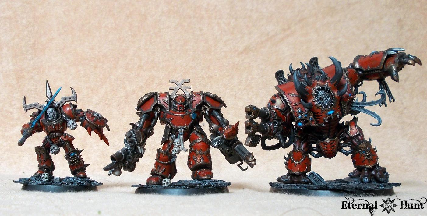 Behemoth, Chaos, Chaos Space Marines, Conversion, Khorne, Khorne's Eternal Hunt, Kitbash, Obliterators, Thamier, Warhammer 40,000, Work In Progress, World Eaters