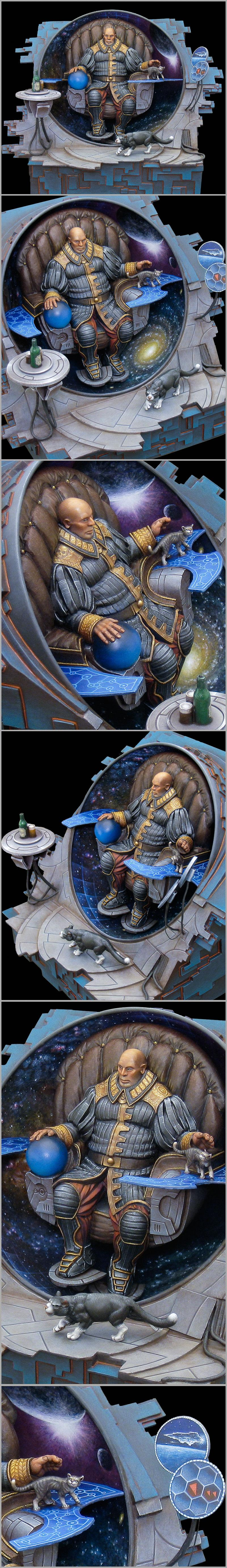 Awesome, Cat, Diorama, Navigator, Rogue Trader, Scratch Build, Sculpting
