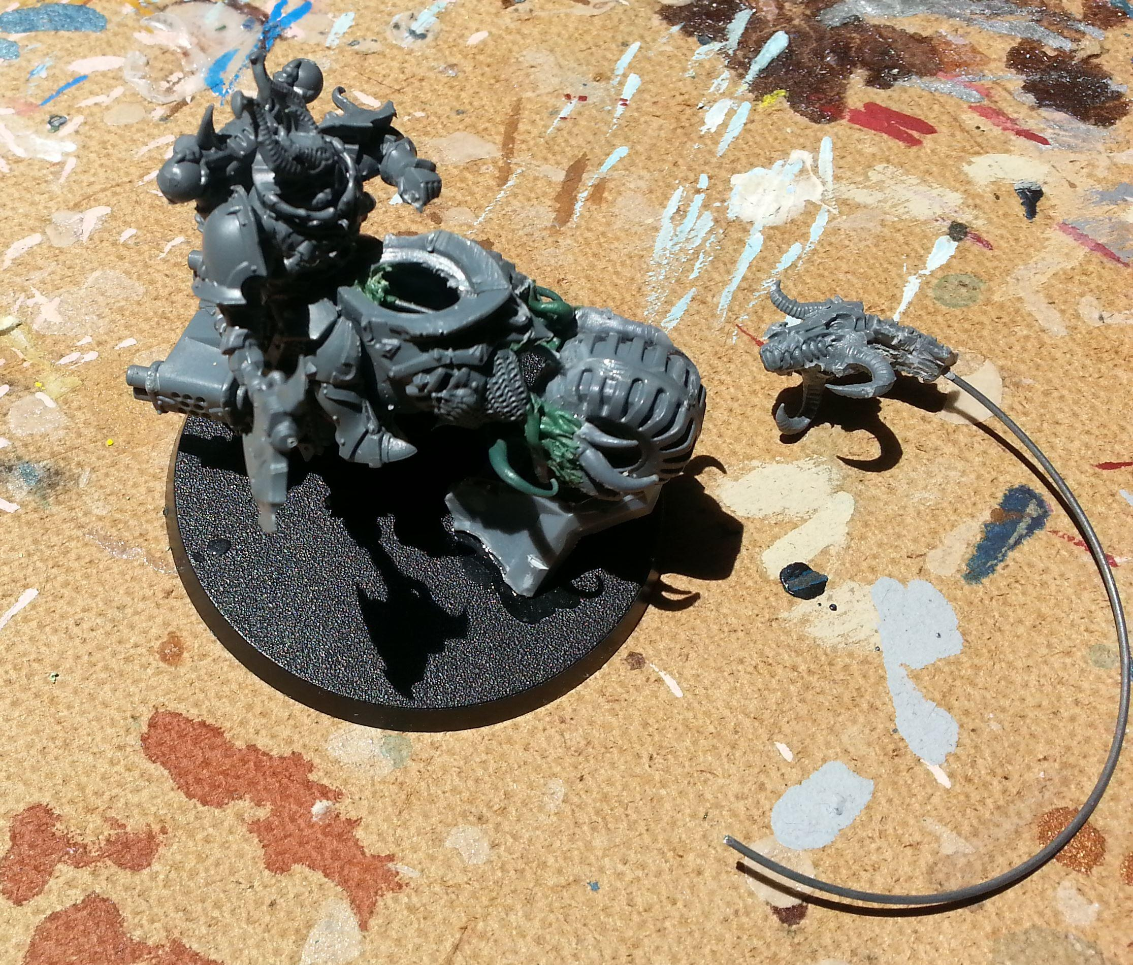 Axe Of Khorne, Black Psalm, Chaos Bikers, Chaos Space Marines, Conversion, Khorne, Knights, Lord
