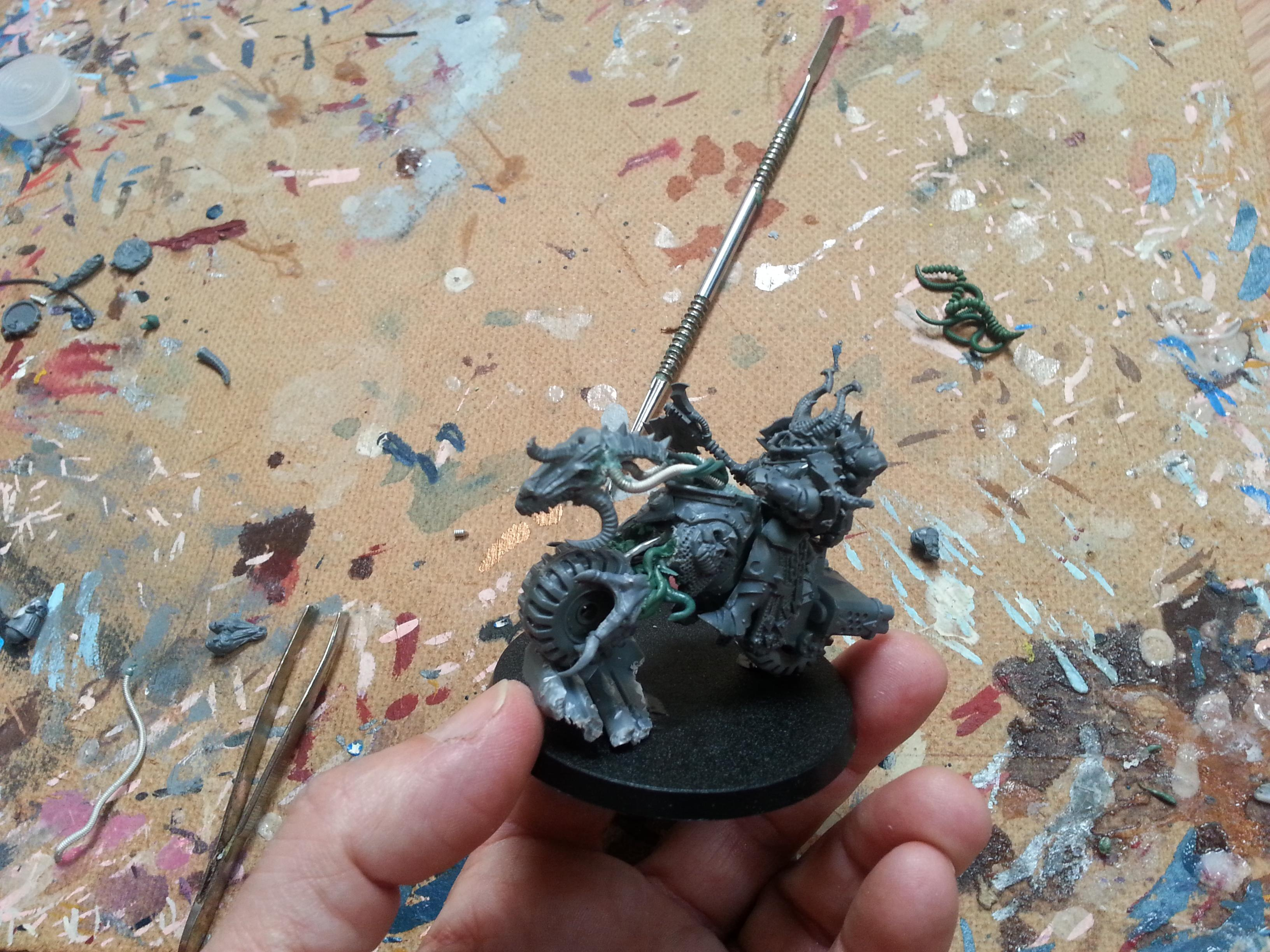 Axe Of Khorne, Chaos, Chaos Bikers, Chaos Lord, Chaos Space Marines, Conversion, Khorne, Knights