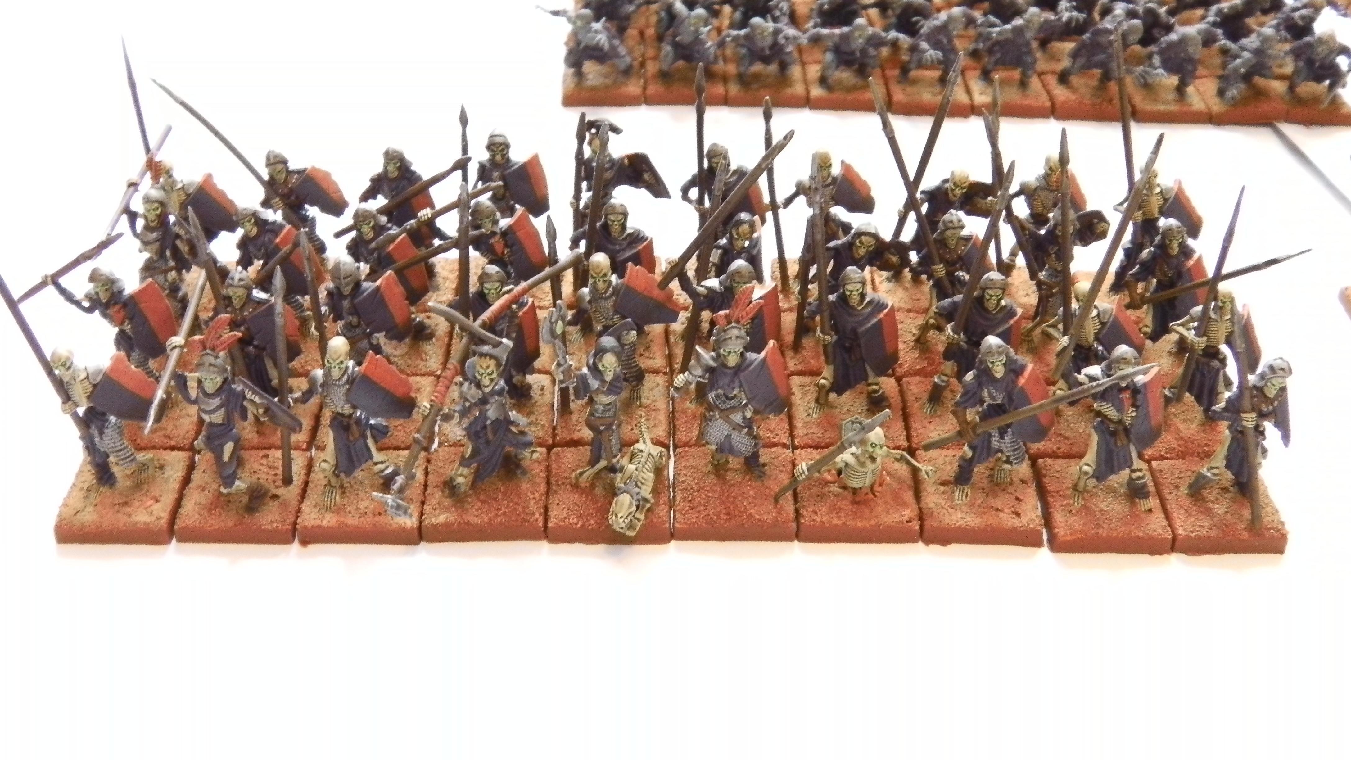 Horde, Kings Of War, Mantic Games, Skeletons, Spears, Undead