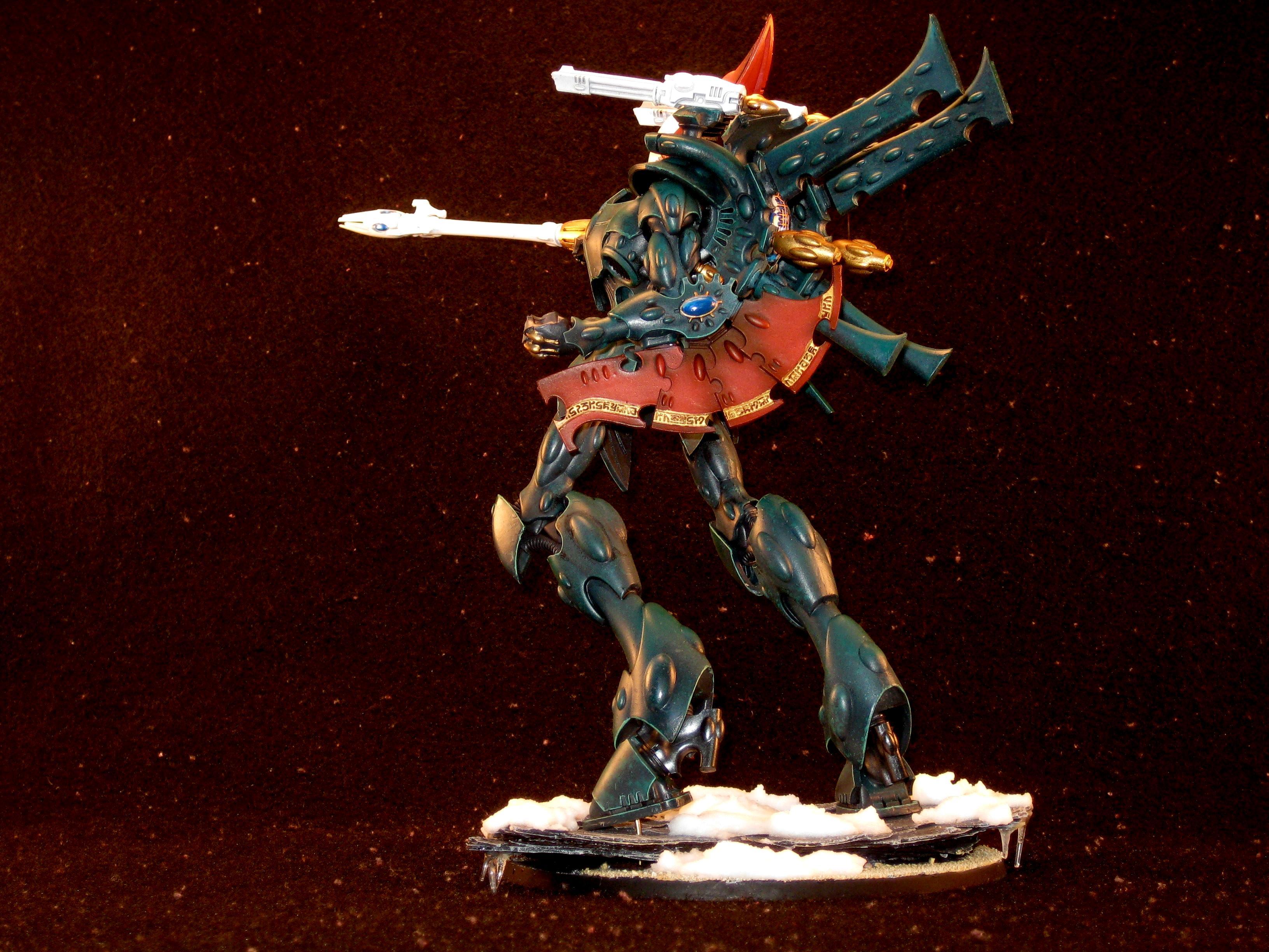 40k Commission Painting, Commission Painting, Dark Eldar, Eldar, Snow, Warhammer 40,000, Wraith Knight