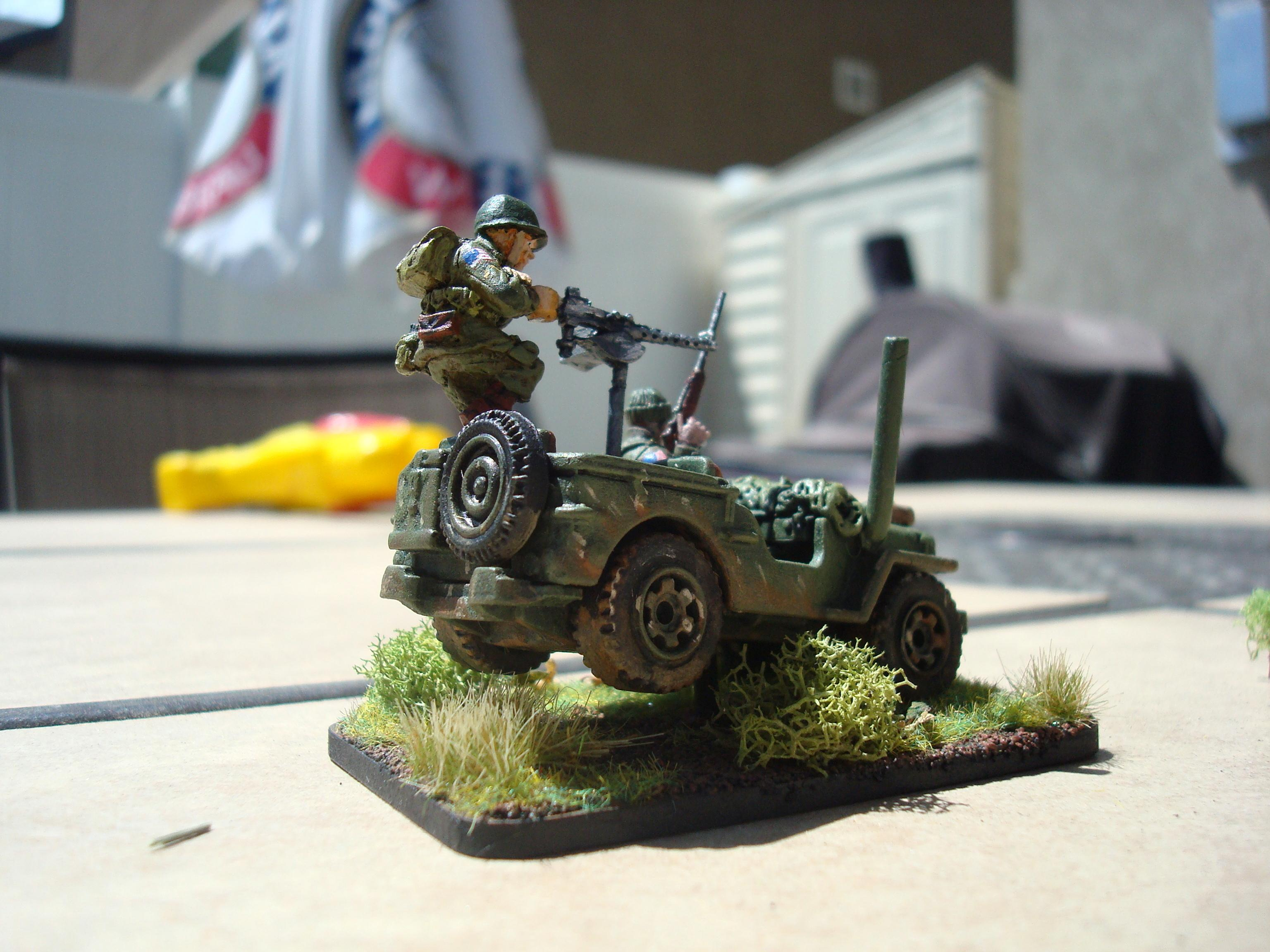 Airborne, Bolt Action, Hmg, Jeep, Paratrooper, Willys