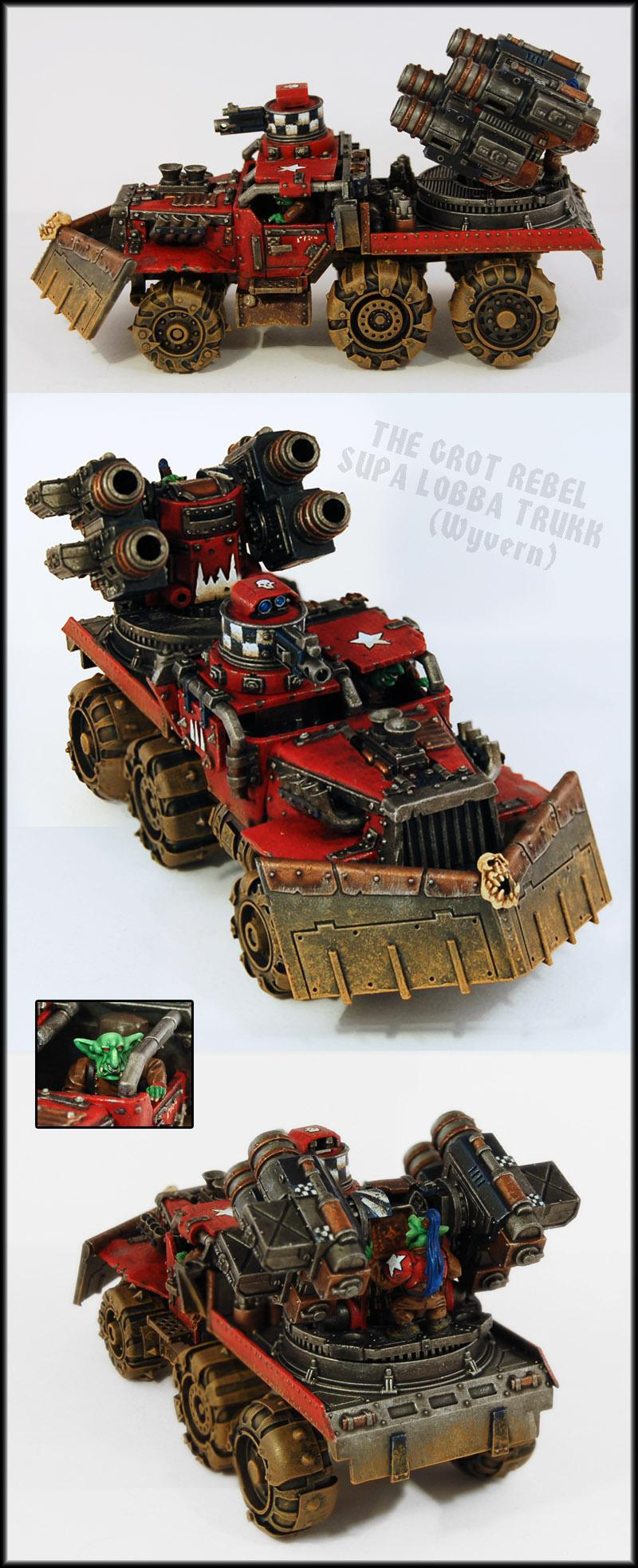 Armor, Forge World, Goblins, Greenskins, Grots, Gunwagon, Mortar, Orks, Tank, Trukk, Wagons, Warhammer 40,000, Wyvern