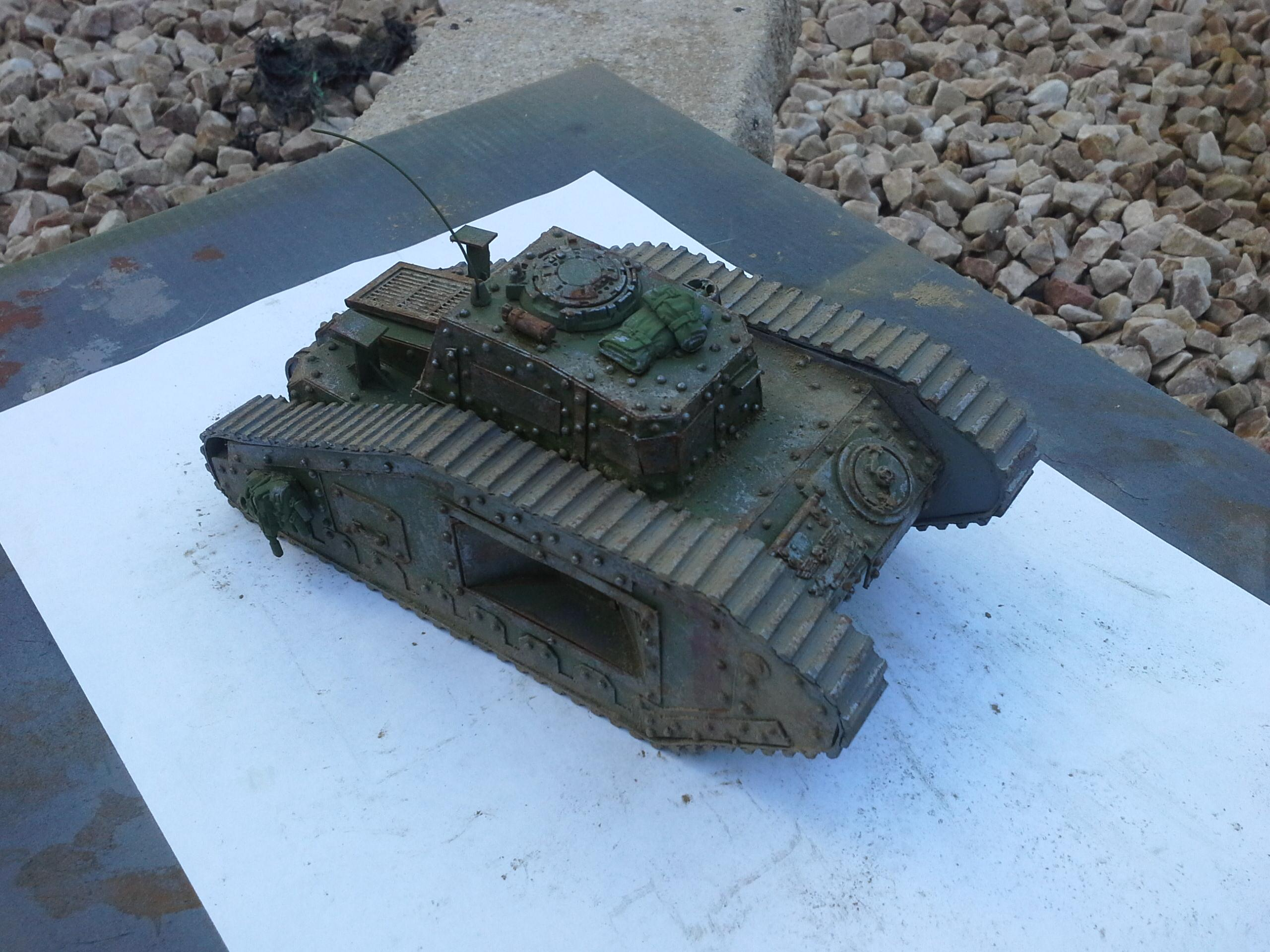 Ancient, Defender, Dirt, Imperial Guard, Malcador, Recovery, Rivets, Rust, Scratch, Scratch Build, Supply, Tank, Weathered