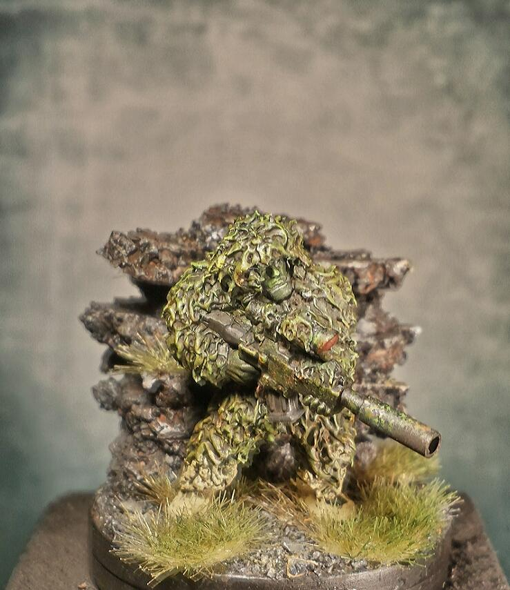 Astra Millitarum, Cadians, Conversion, Ghillie, Green, Greenstuff, Imperial, Imperial Guard, Mud, Spec Ops, Stuff, Suite