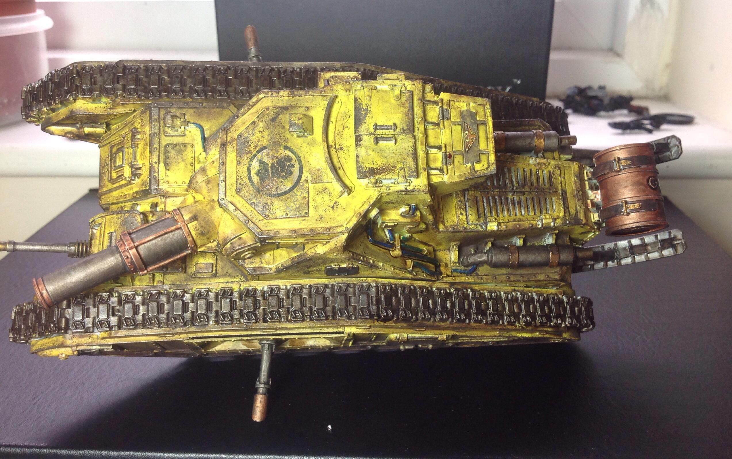 Astra Militarum, Battle Tank, Forge World, Gianlucafiorentini123, Imperial Guard, Macharius, Tank, Warhammer 40,000, Yellow